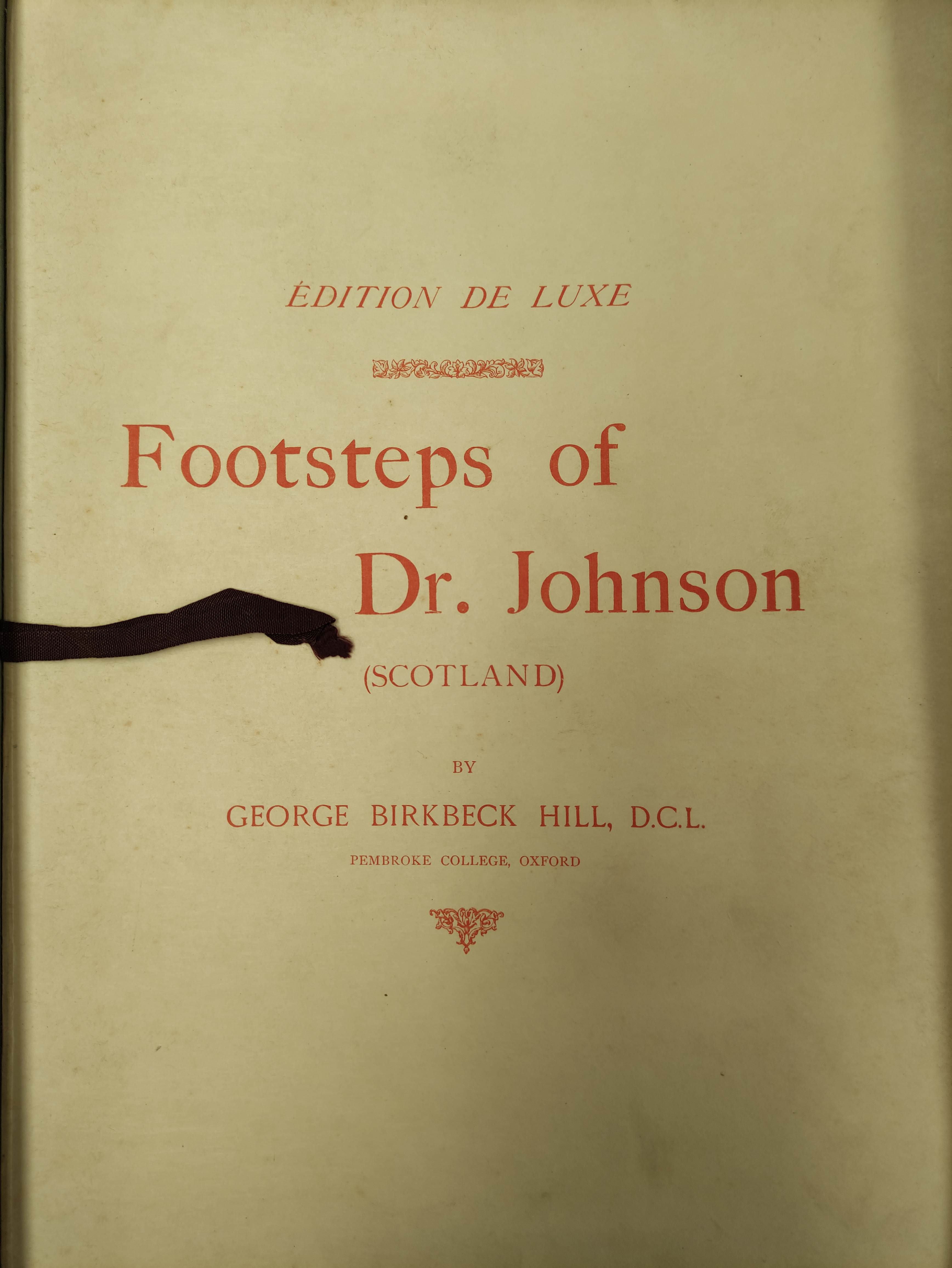 BIRKBECK HILL GEORGE.Footsteps of Dr. Johnson. Edition Deluxe. Plates. Unbound leaves in card - Image 3 of 10