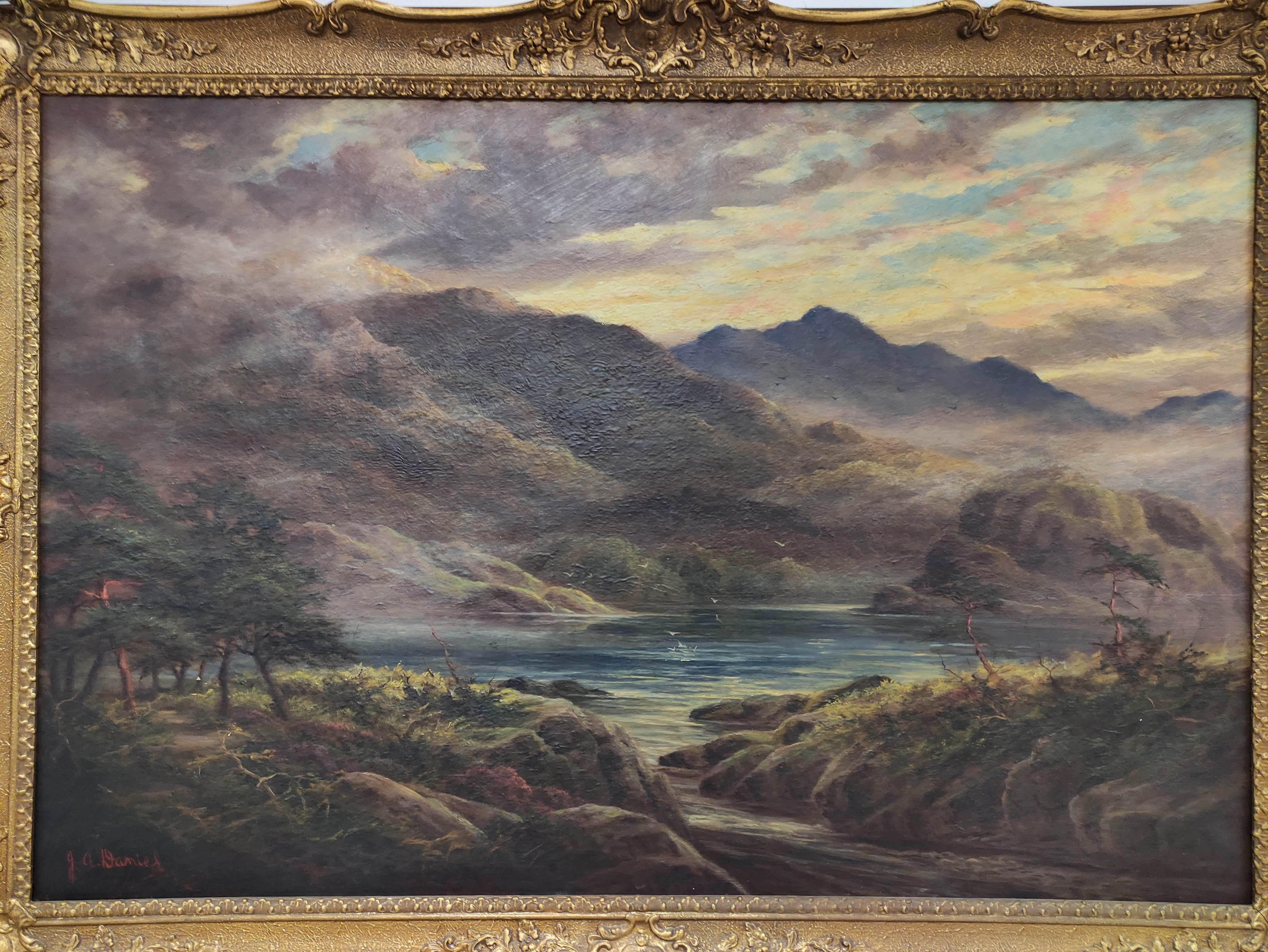 J. A. DANIEL. Loch Aylort. Signed, oil on canvas. 60cm x 90cm. - Image 3 of 3