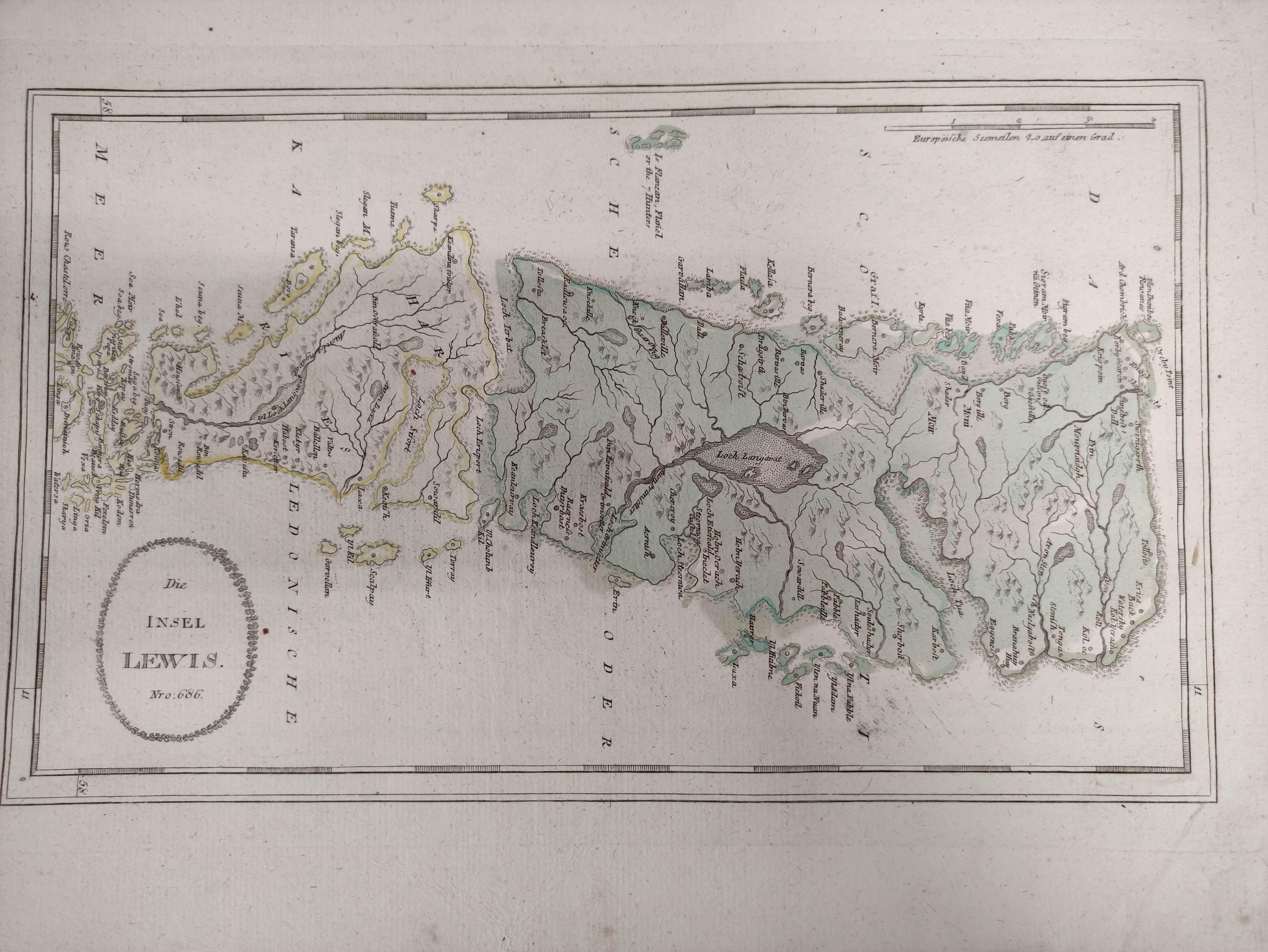 (VON REILLY F. J. J.). Maps. Die Insel Lewis, no. 686, Die Insel Skye, no. 687 & 5 other hand - Image 3 of 5