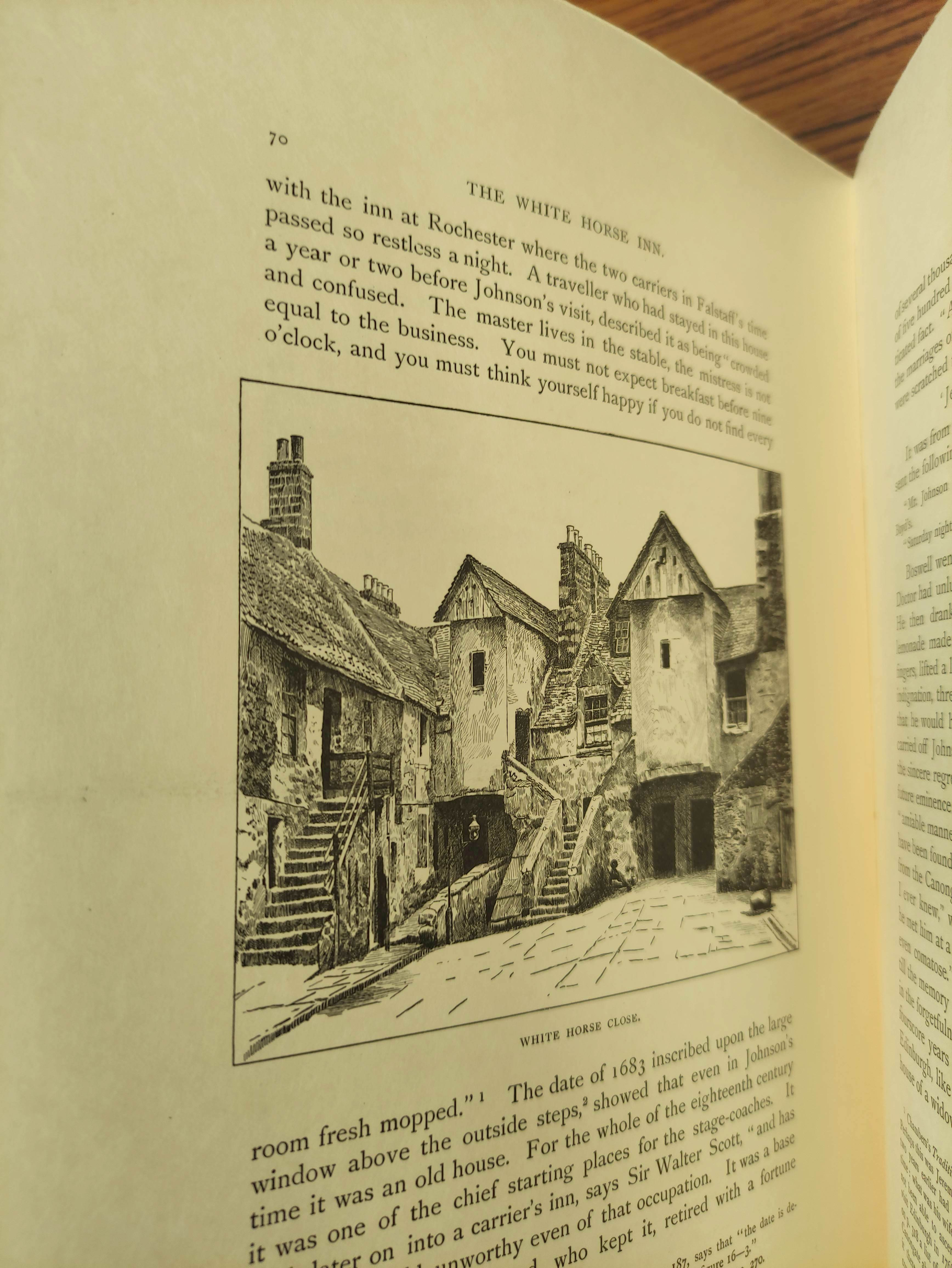 BIRKBECK HILL GEORGE.Footsteps of Dr. Johnson. Edition Deluxe. Plates. Unbound leaves in card - Image 8 of 10