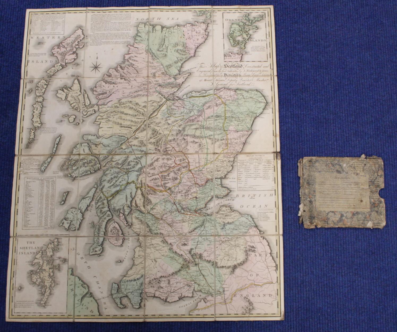KIRKWOOD J. & SONS.Map of Scotland. Hand col. eng. fldg. linen map in well worn orig. slip case. - Image 11 of 36