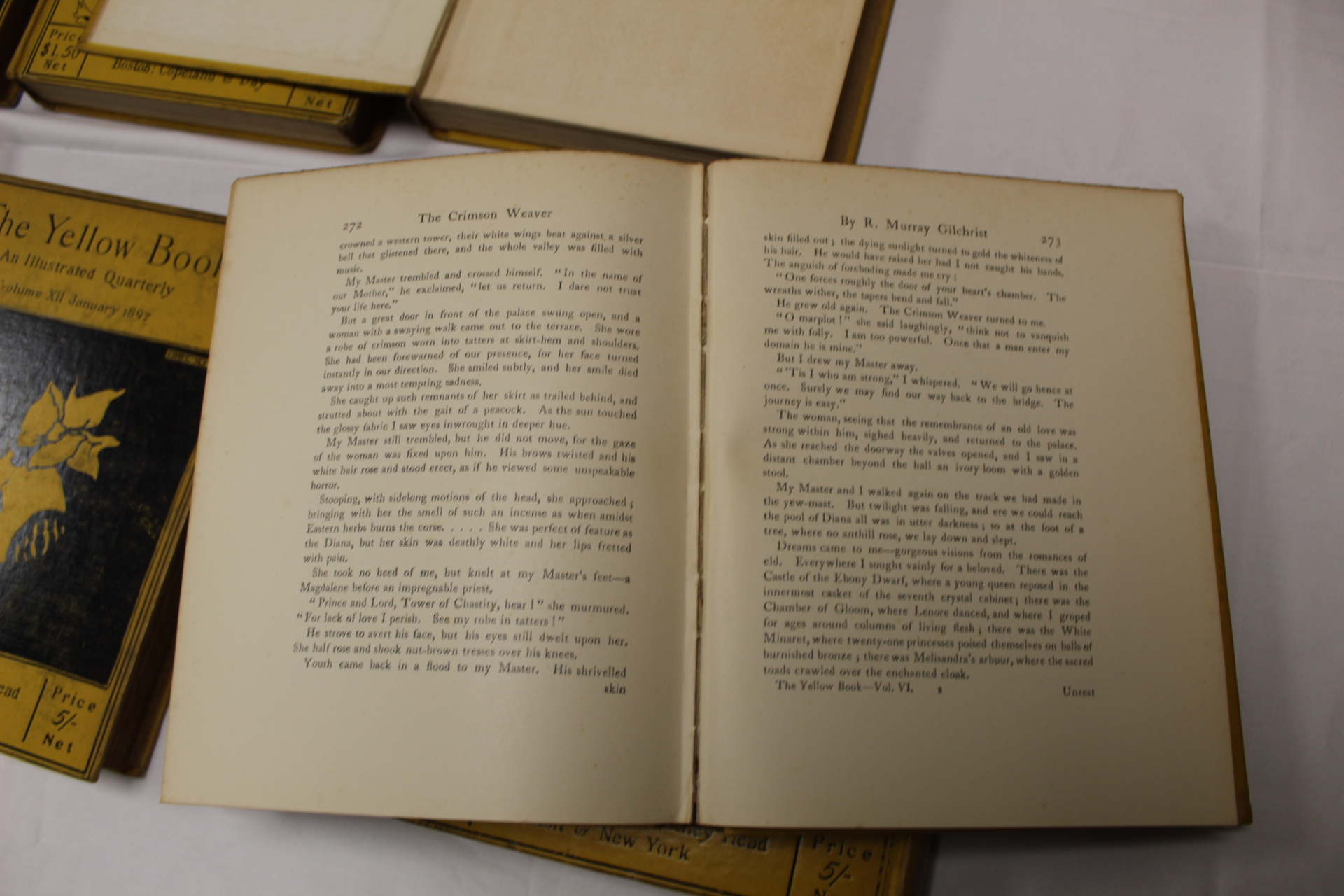 THE YELLOW BOOK.An Illustrated Quarterly. A set of 13 vols., many fine illus. Small quarto. - Image 35 of 45