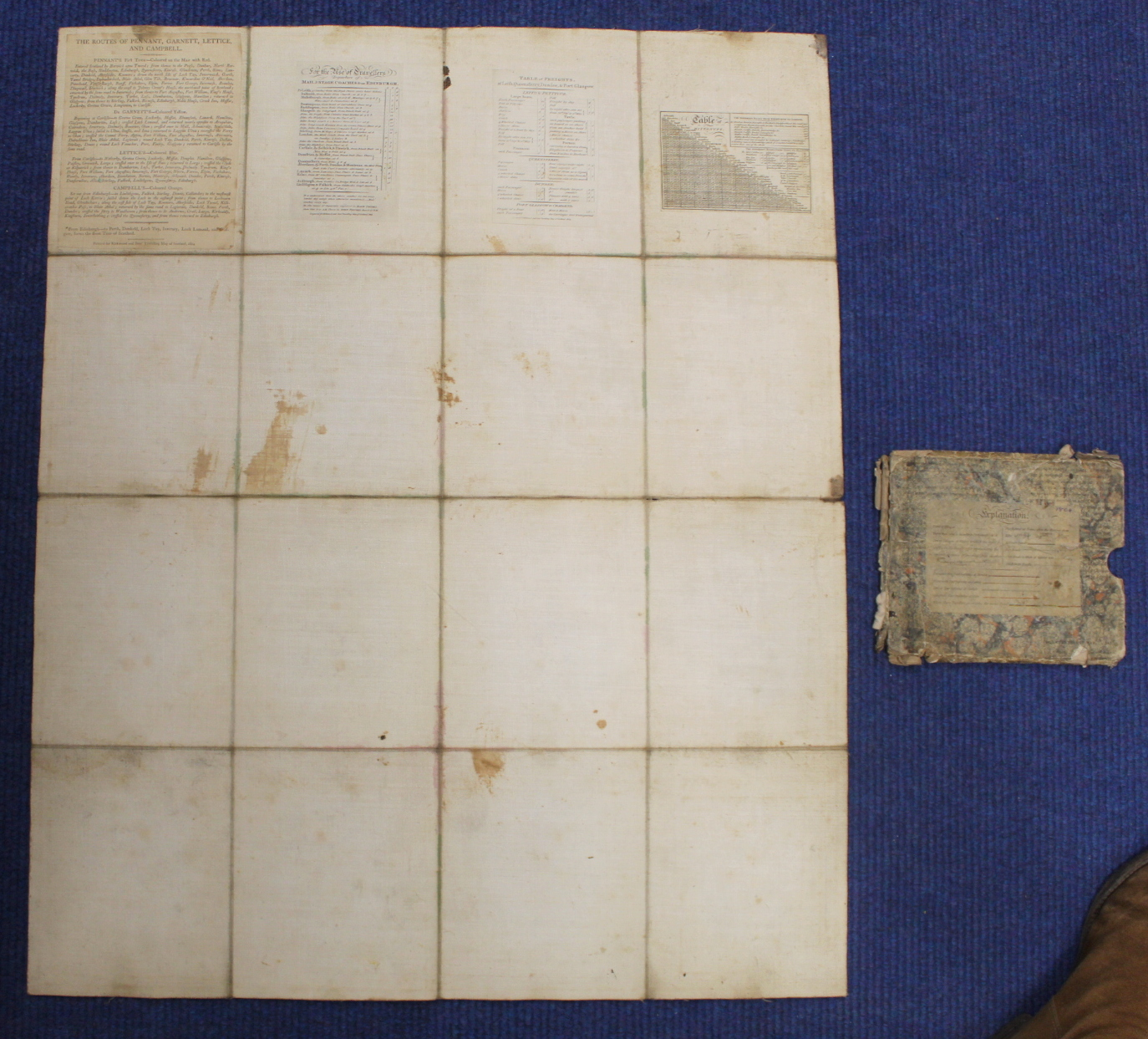 KIRKWOOD J. & SONS.Map of Scotland. Hand col. eng. fldg. linen map in well worn orig. slip case. - Image 14 of 36
