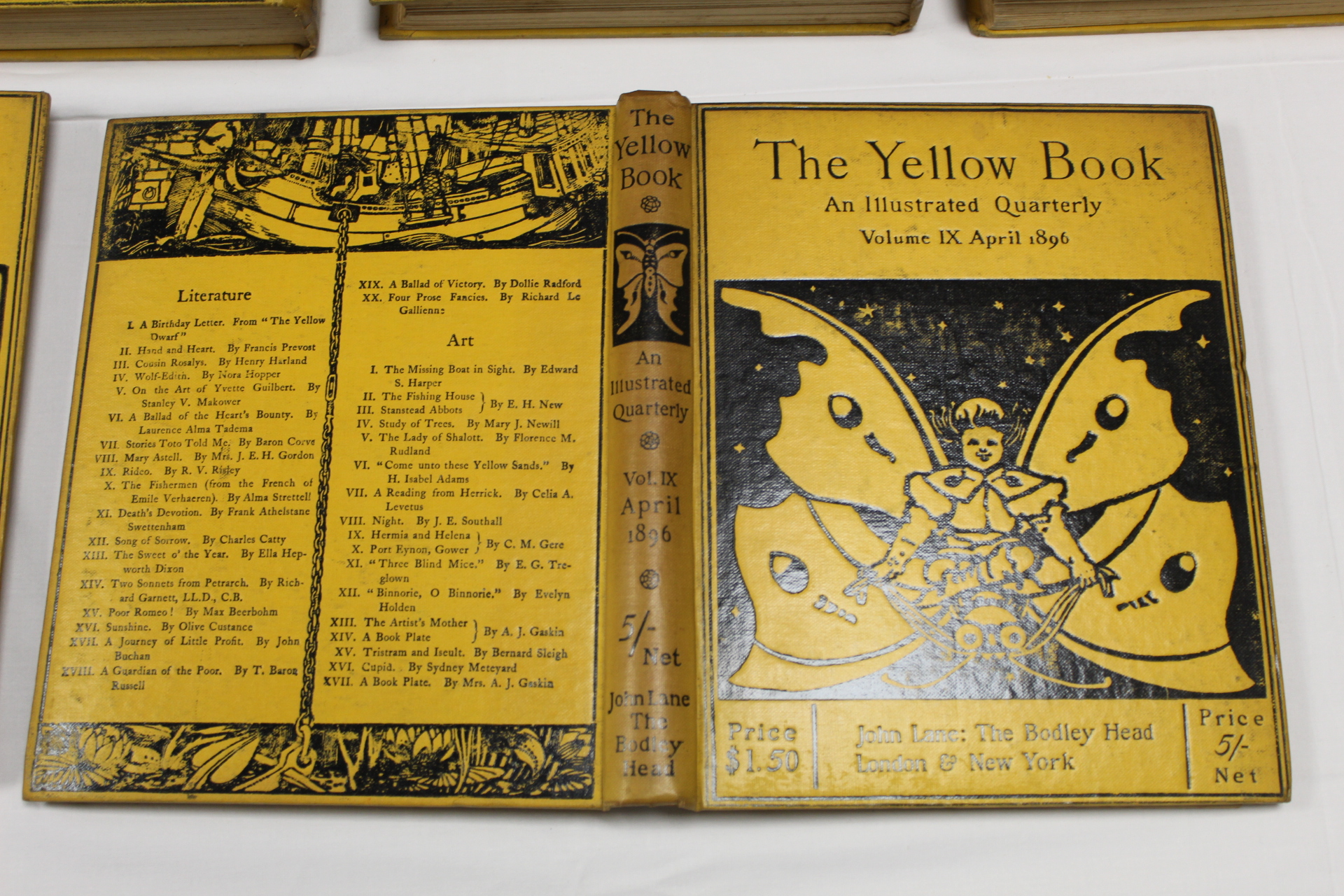THE YELLOW BOOK.An Illustrated Quarterly. A set of 13 vols., many fine illus. Small quarto. - Image 44 of 45