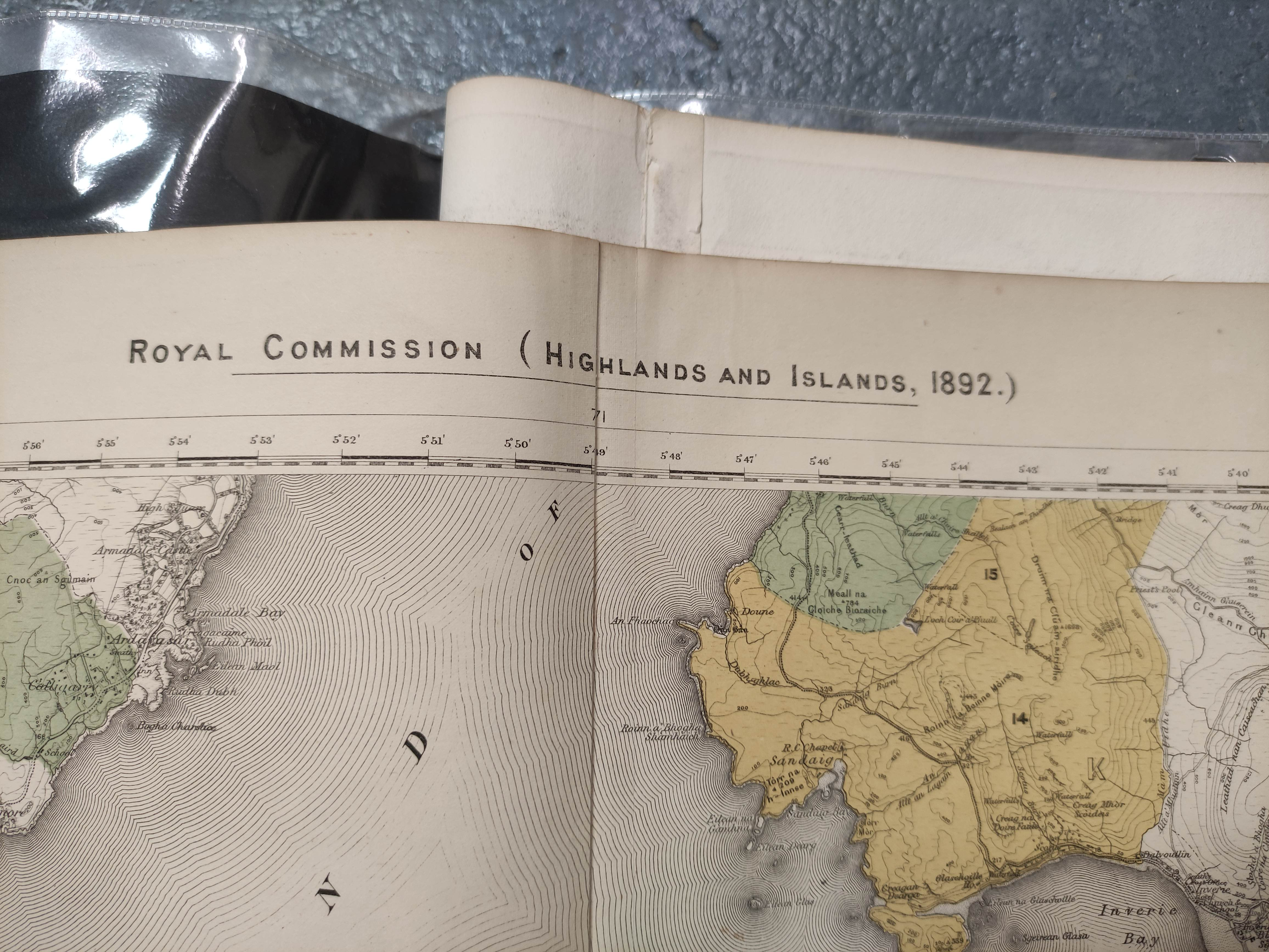 JOHNSON W. & A. K.Map of the County of Inverness with the railways. 4 part eng. map, hand col. - Image 2 of 6