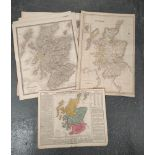 Scotland - Maps.3 hand coloured eng. double page maps from Thomson's New General Atlas, 1815 & 6