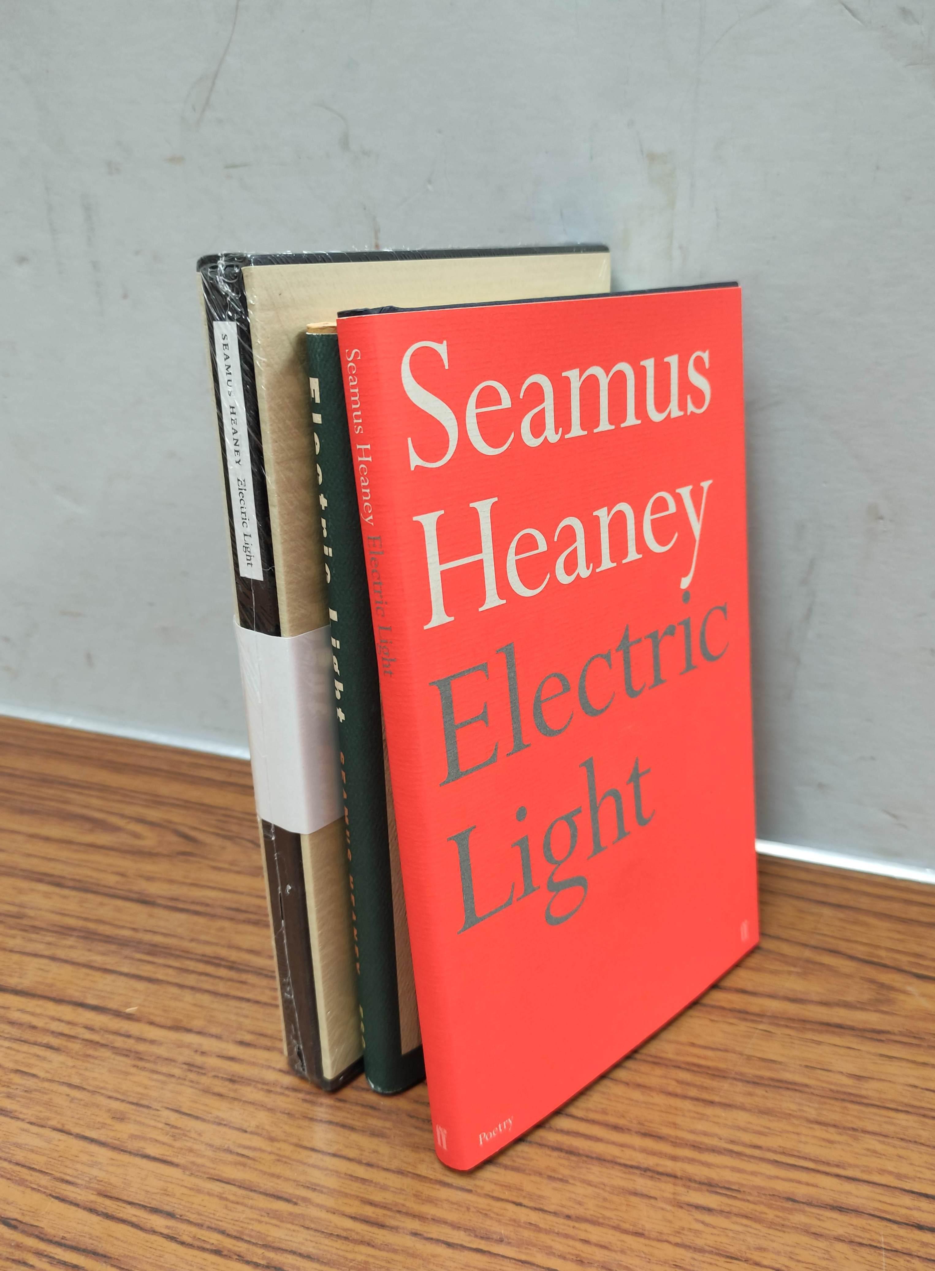 HEANEY SEAMUS. Electric Light. Ltd. ed. 297/300 signed by Heaney. Slip case, sealed in orig.