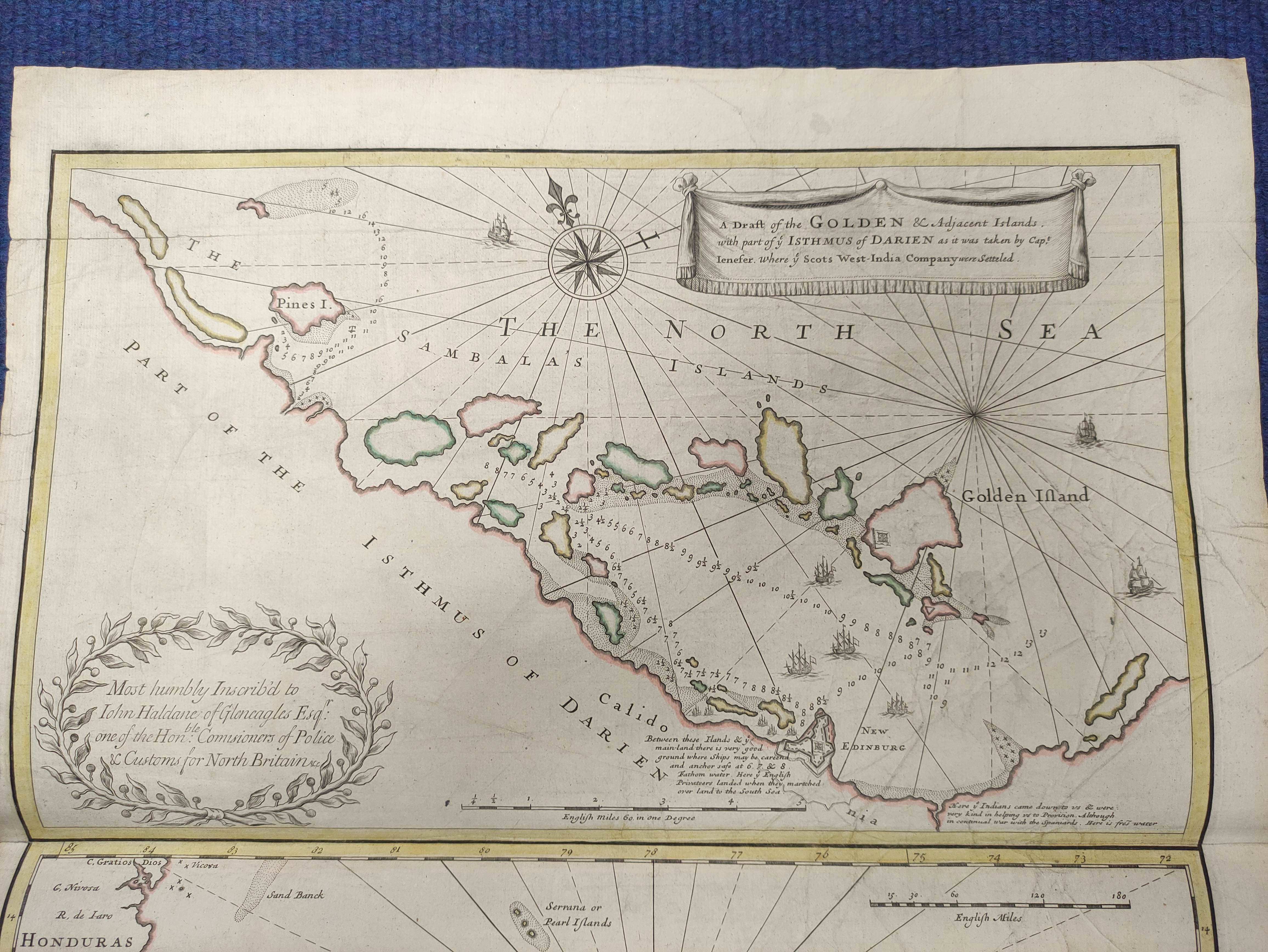 JENEFER CAPTAIN (JOHN).A Draft of the Golden & Adjacent Islands, with Part of the Isthmus of - Image 2 of 8
