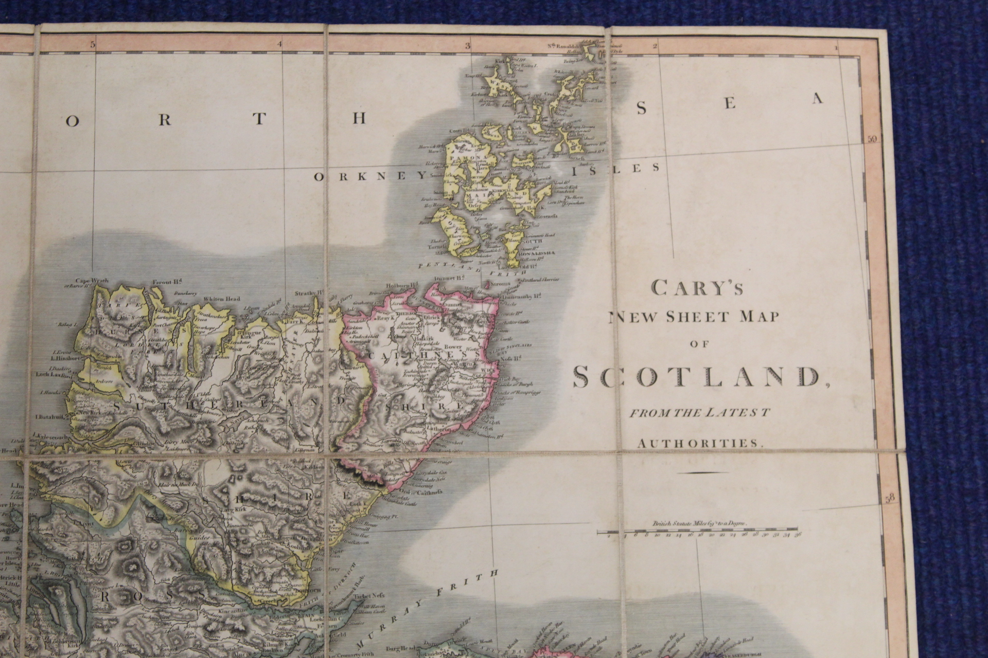 KIRKWOOD J. & SONS.Map of Scotland. Hand col. eng. fldg. linen map in well worn orig. slip case. - Image 34 of 36