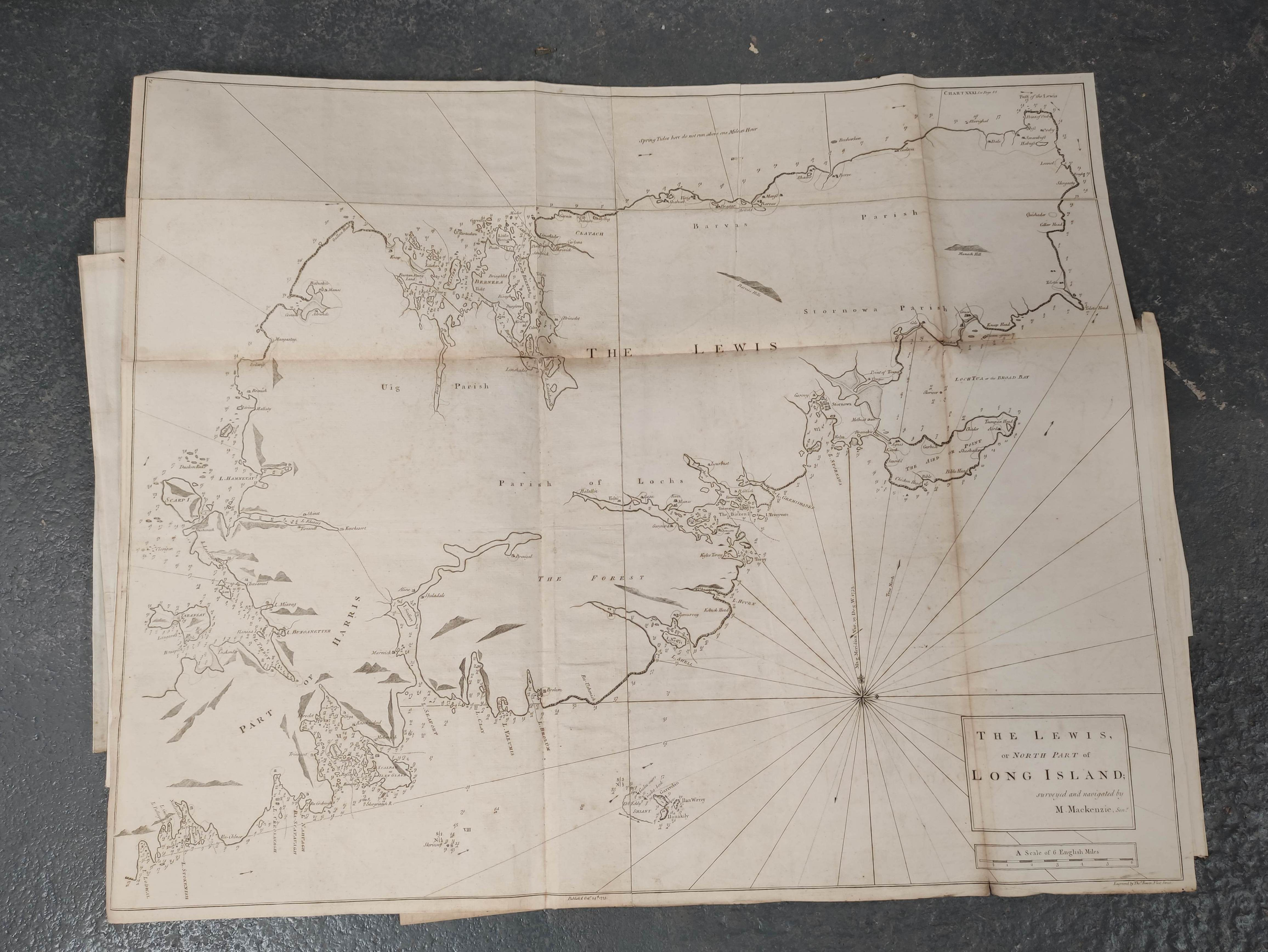 MACKENZIE MURDOCH (SNR.).A General Chart of the West Coast & Western Islands of Scotland from - Image 5 of 66