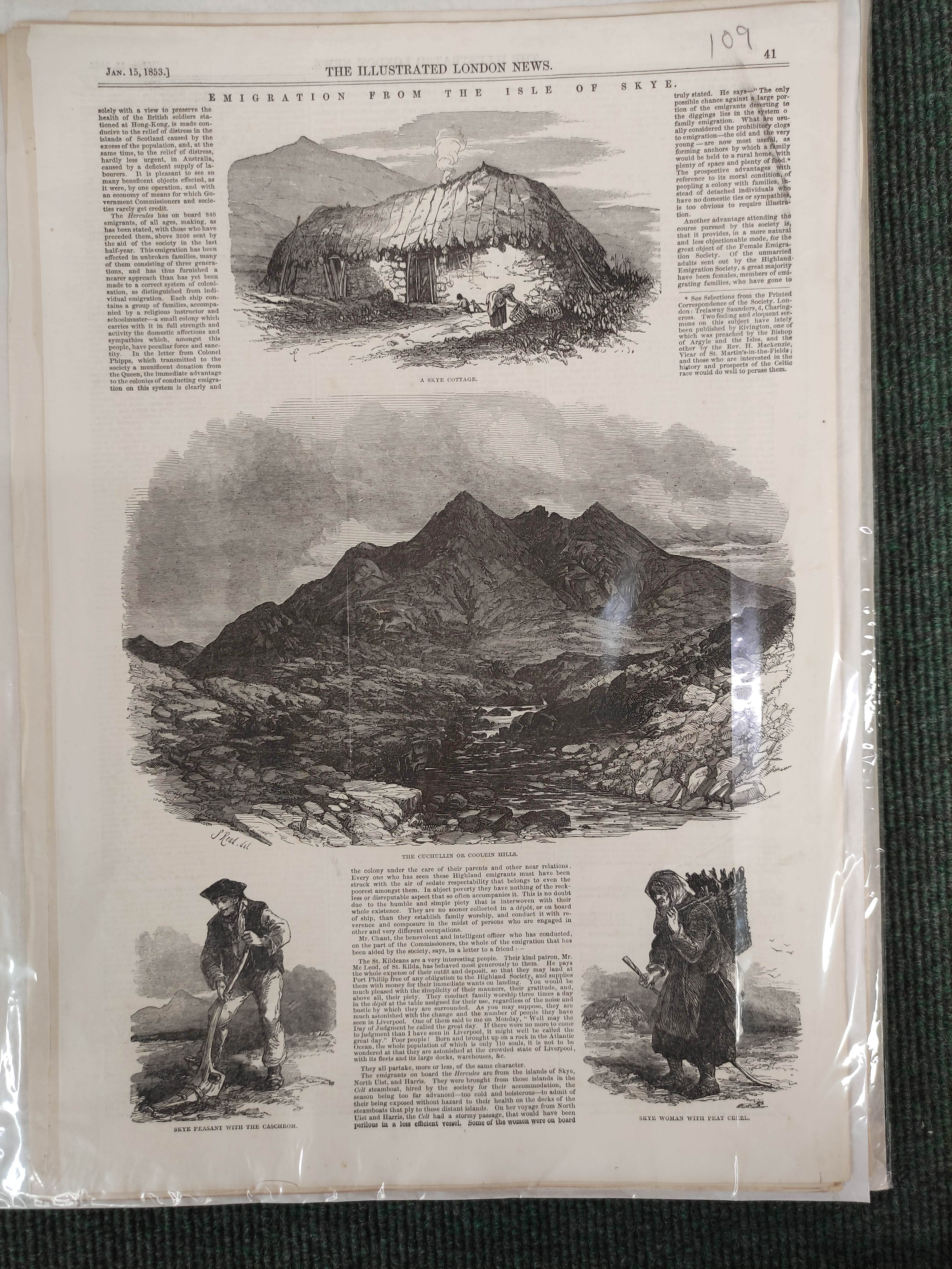 Illustrated London News, The Graphic & other periodicals. A collection of extracts & loose illus. - Image 7 of 9