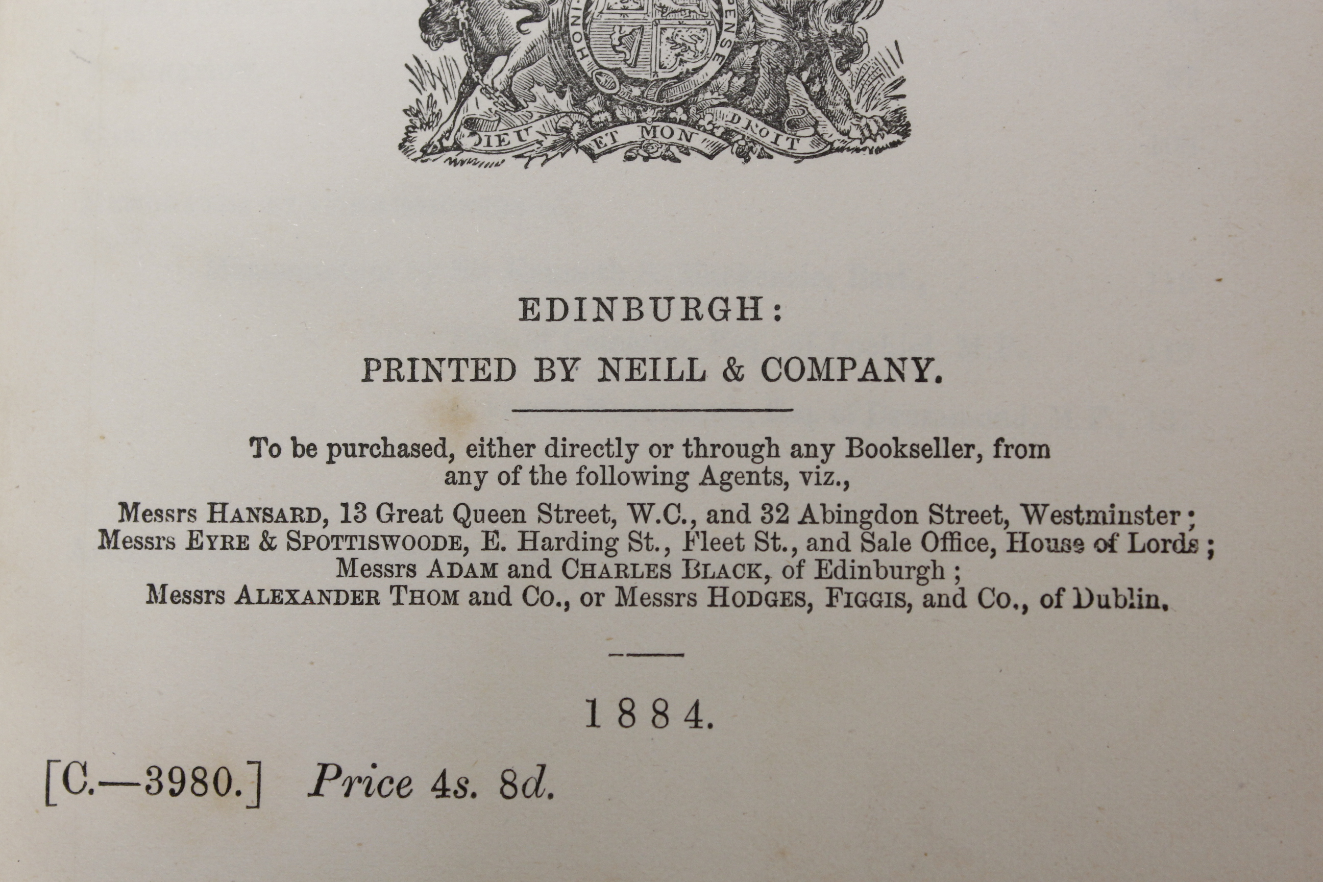 CROFTERS COMMISSION.Report of Her Majesty's Commissioners of Inquiry. 5 vols. incl. Evidential - Image 5 of 9
