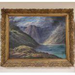 J. A. DANIEL. Dark Loch Coruisk, Skye. Signed, oil on canvas. 46cm x 61cm.