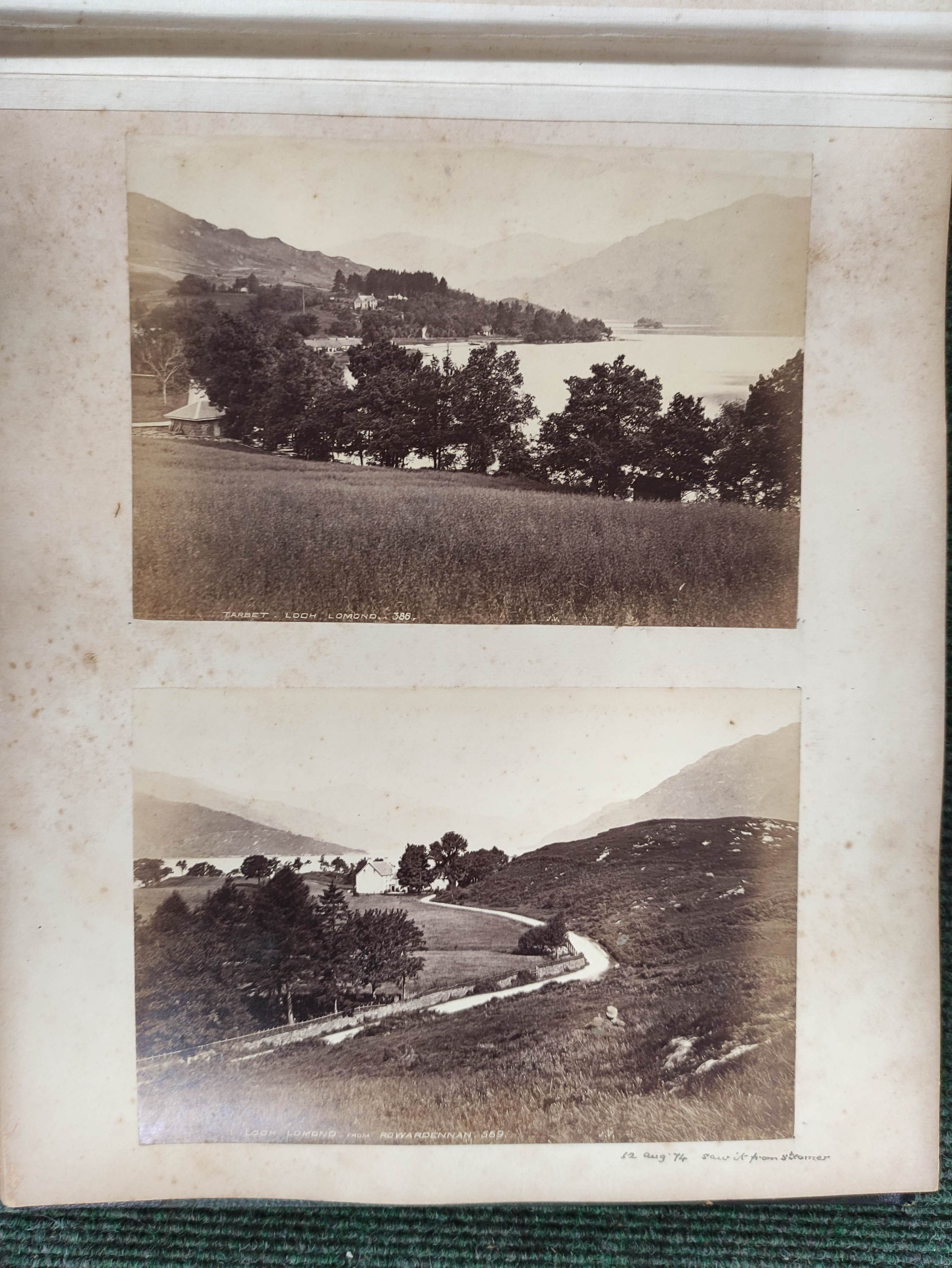 Highlands & Islands & others.A carton of prints & ephemera; also a quarto album of sepia & other - Image 5 of 7