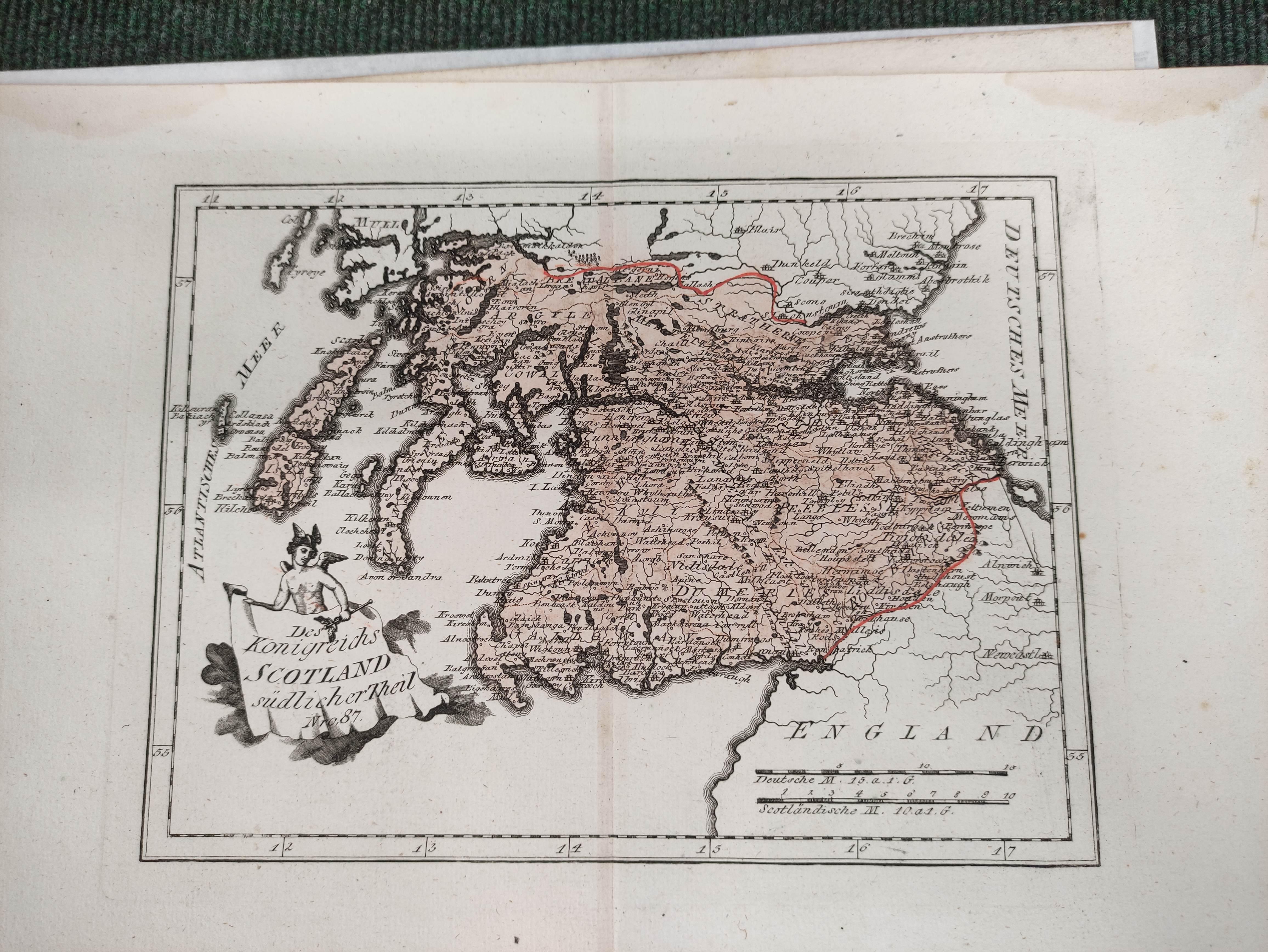 (VON REILLY F. J. J.). Maps. Die Insel Lewis, no. 686, Die Insel Skye, no. 687 & 5 other hand - Image 4 of 5