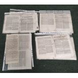 Jacobite Rising.The Battle of Falkirk. Double sided broadsheet from The Caledonian Mercury,