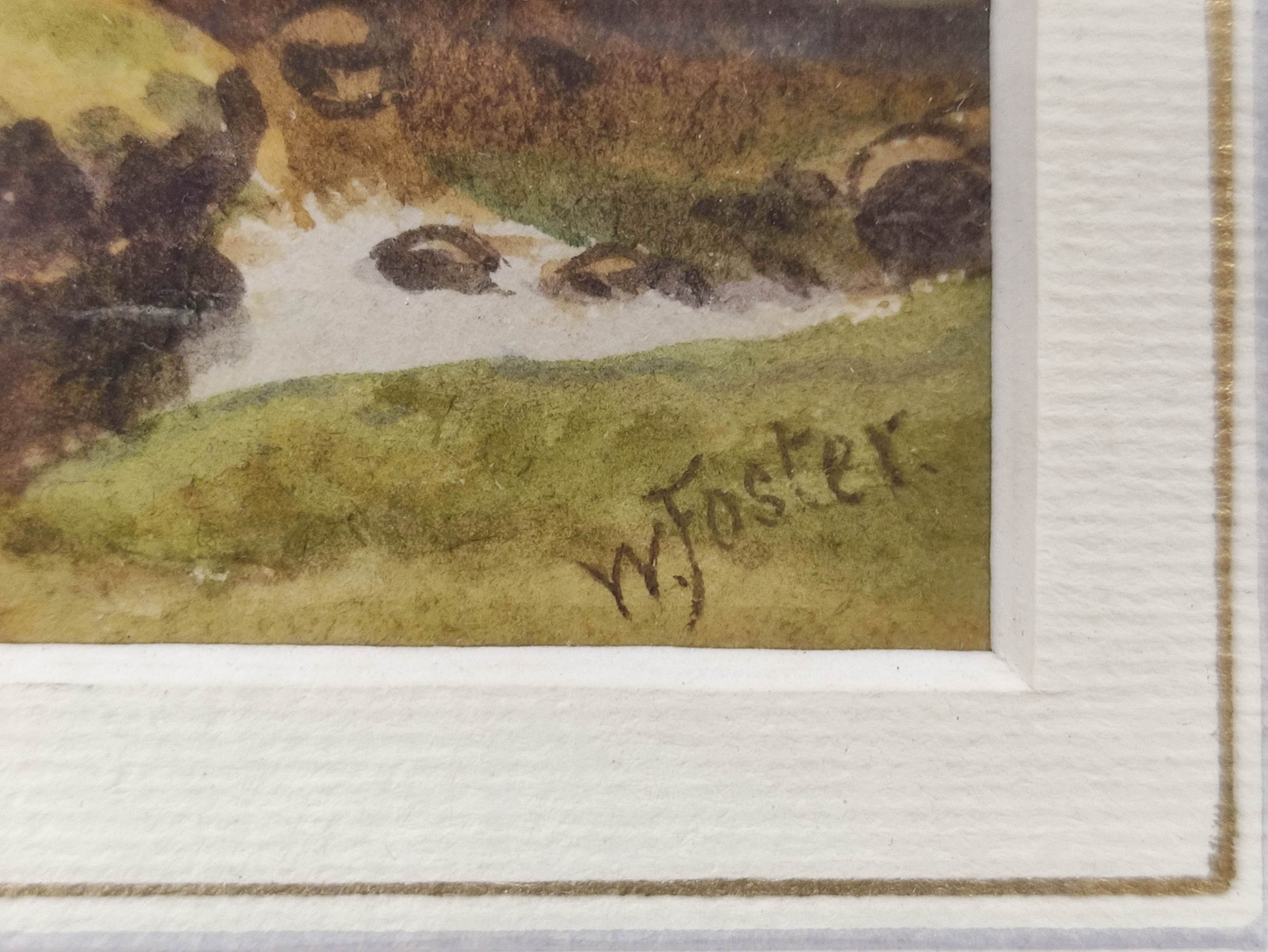 WILLIAM FOSTER. Highland Cattle, Balmacara. Signed, watercolour. 18cm x 26cm. - Image 3 of 5