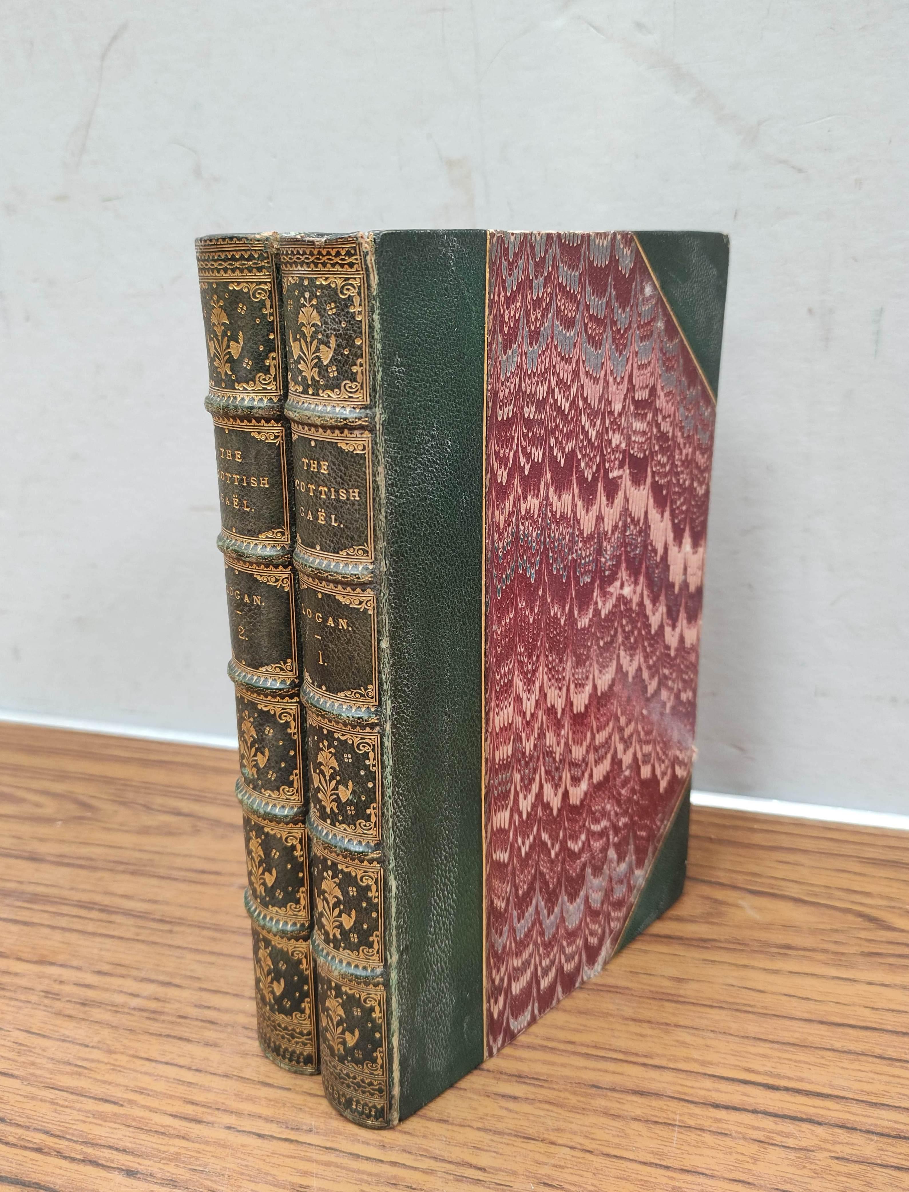 LOGAN JAMES.The Scottish Gael. 2 vols. Col. frontis & text illus. Half green morocco. A nice