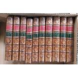 BOSWELL JAMES.Life of Samuel Johnson. 10 vols. Eng. frontis, titles & plates. 12mo. Half calf,