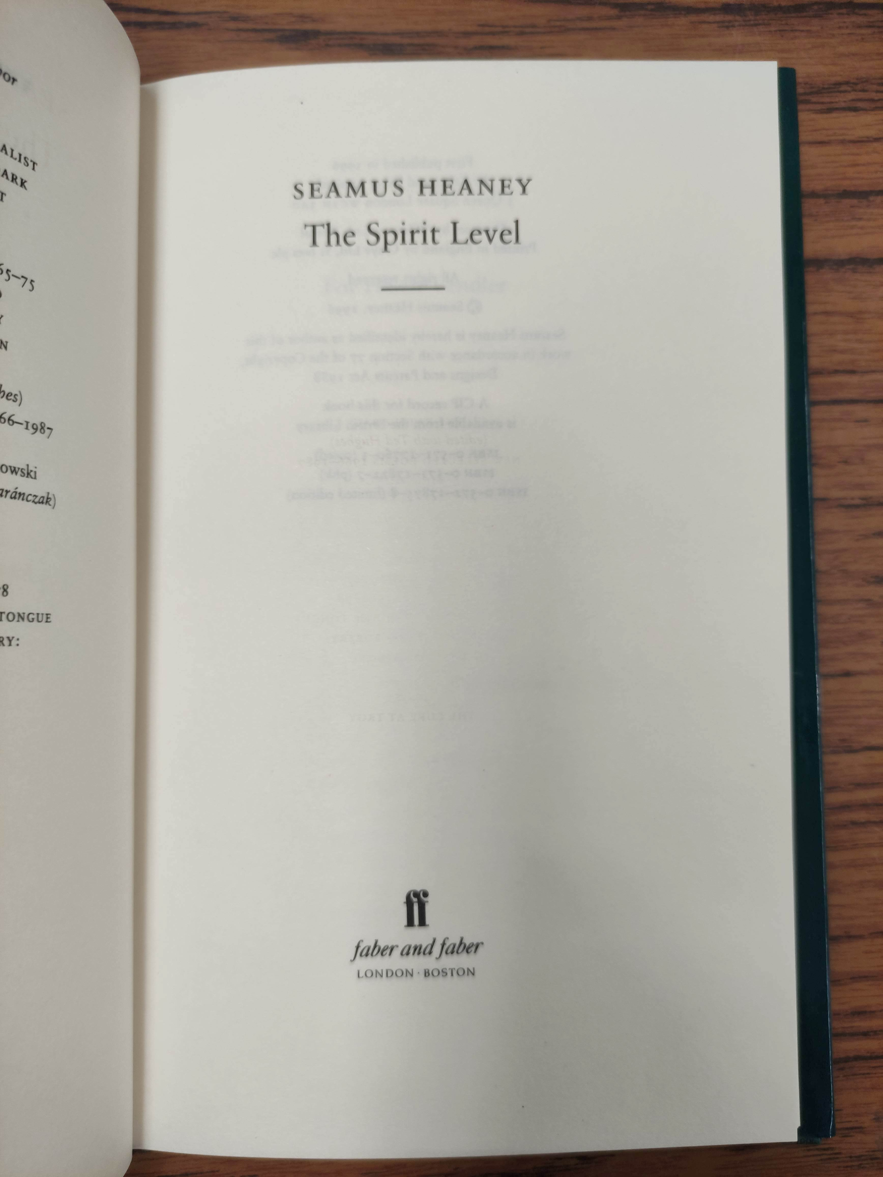 HEANEY SEAMUS. Sweeney Astray. Signed by Heaney. Orig. brown & lime green cloth & brds. in d.w. - Image 4 of 9