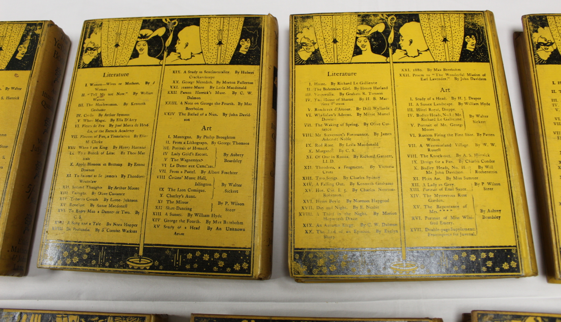 THE YELLOW BOOK.An Illustrated Quarterly. A set of 13 vols., many fine illus. Small quarto. - Image 37 of 45