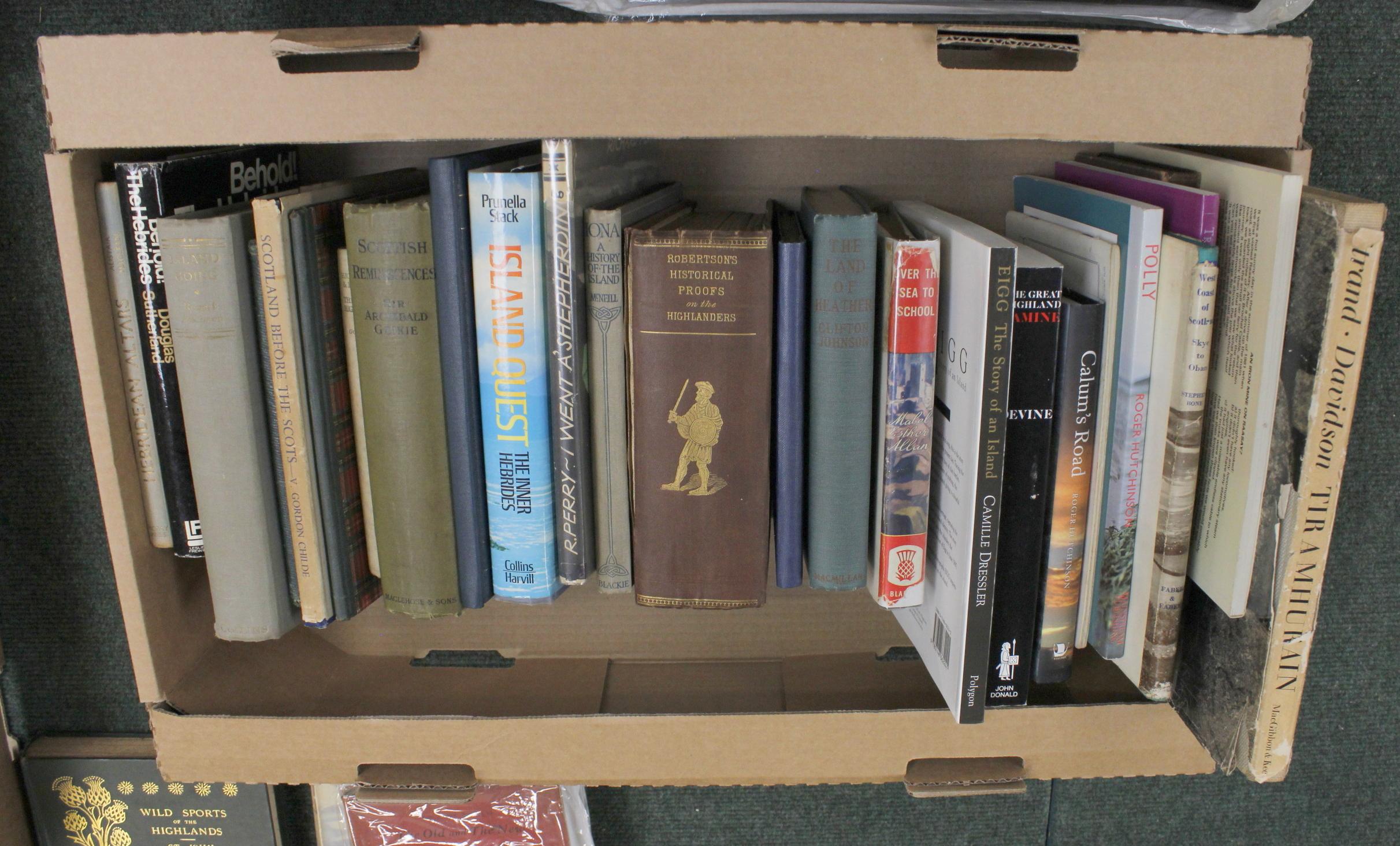 Scotland.A carton of vols. incl. Highlands & Islands.