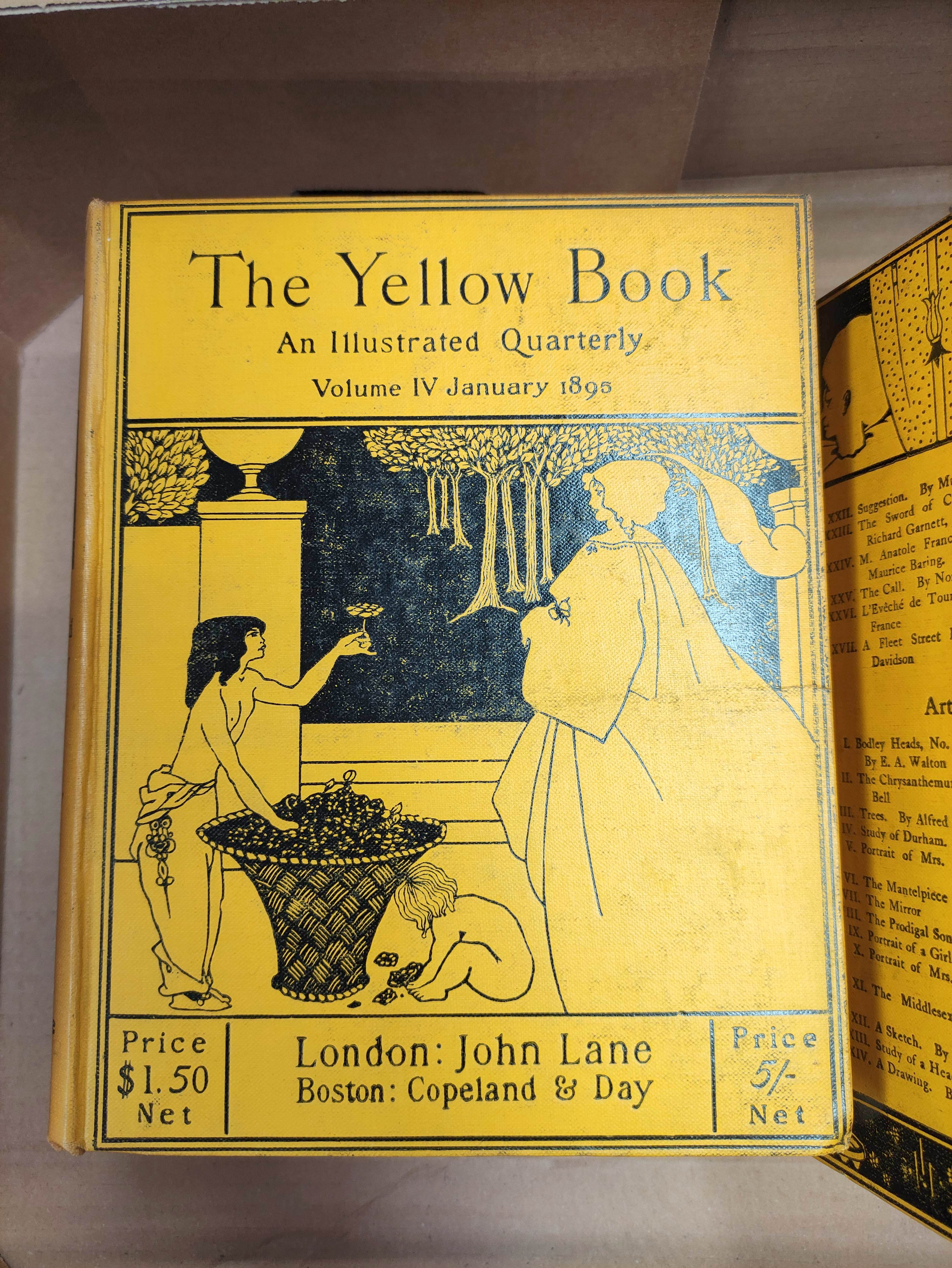 THE YELLOW BOOK.An Illustrated Quarterly. A set of 13 vols., many fine illus. Small quarto. - Image 2 of 45