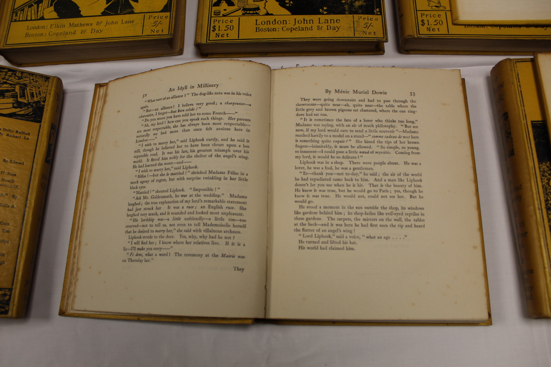 THE YELLOW BOOK.An Illustrated Quarterly. A set of 13 vols., many fine illus. Small quarto. - Image 14 of 45