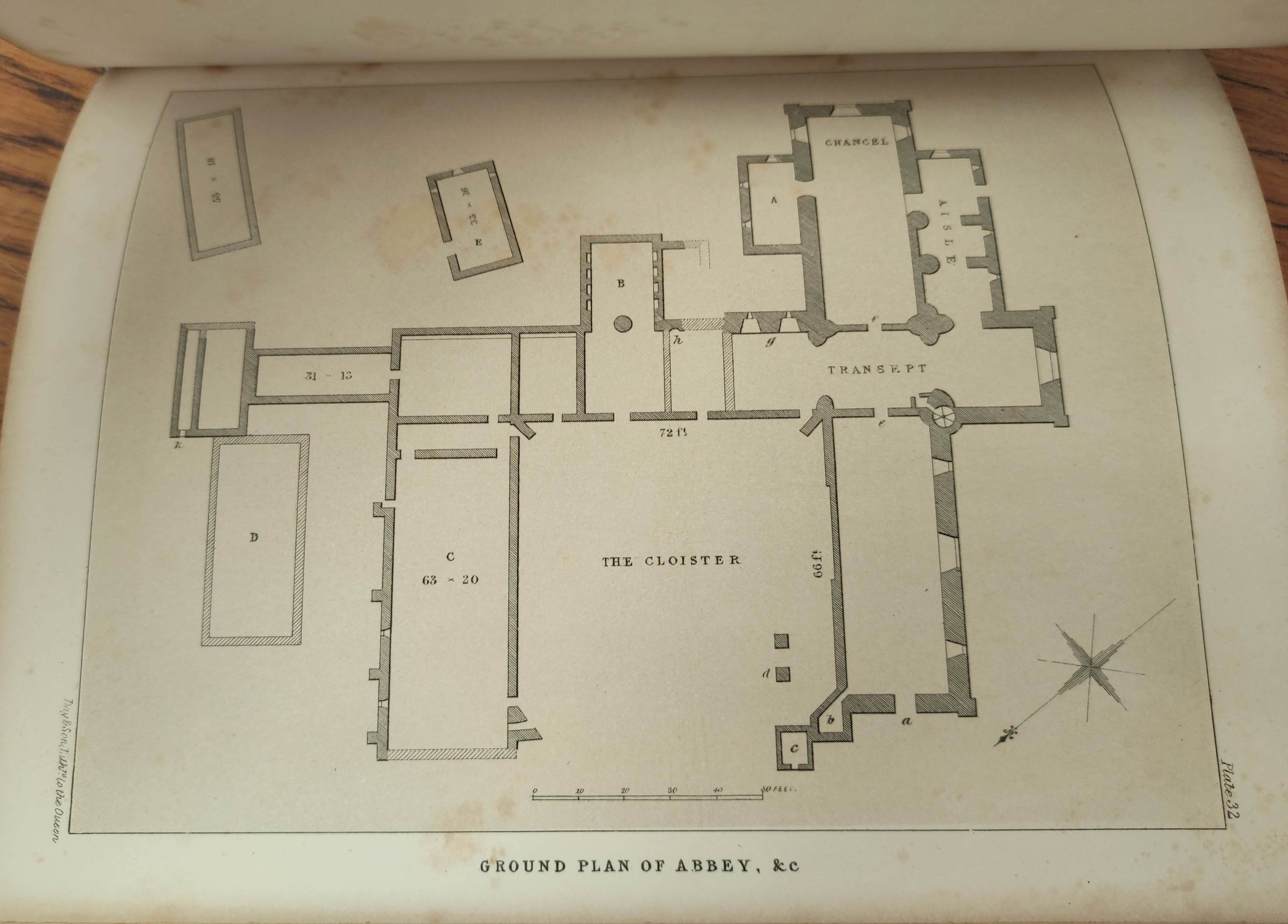 GRAHAM H. D.Antiquities of Iona. Litho frontis, map & plates. Quarto. Rebound qtr. green calf, - Image 11 of 13