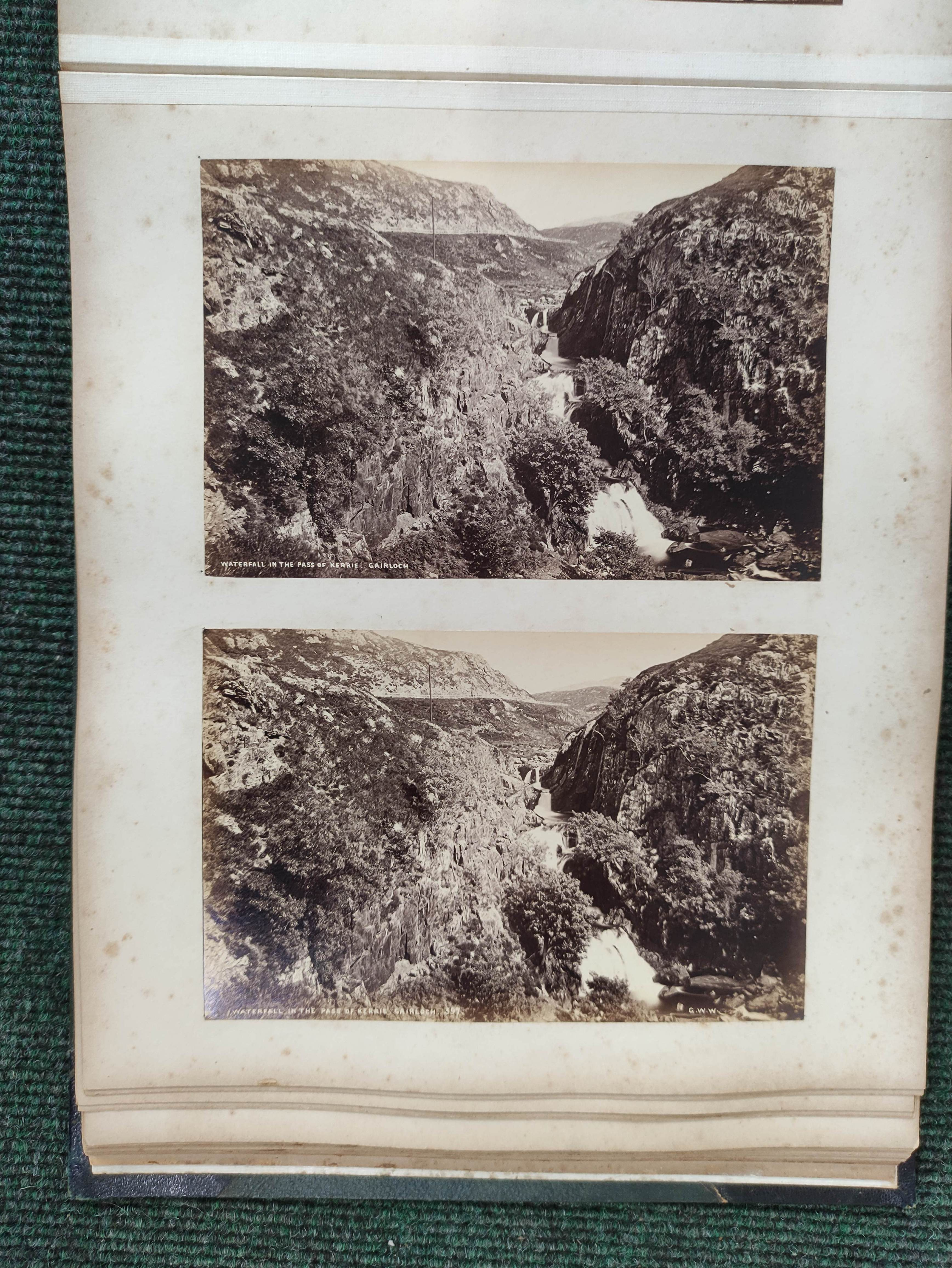 Highlands & Islands & others.A carton of prints & ephemera; also a quarto album of sepia & other - Image 6 of 7