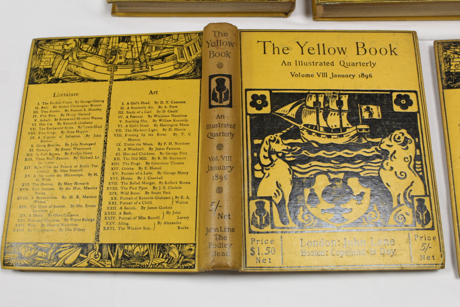 THE YELLOW BOOK.An Illustrated Quarterly. A set of 13 vols., many fine illus. Small quarto. - Image 43 of 45