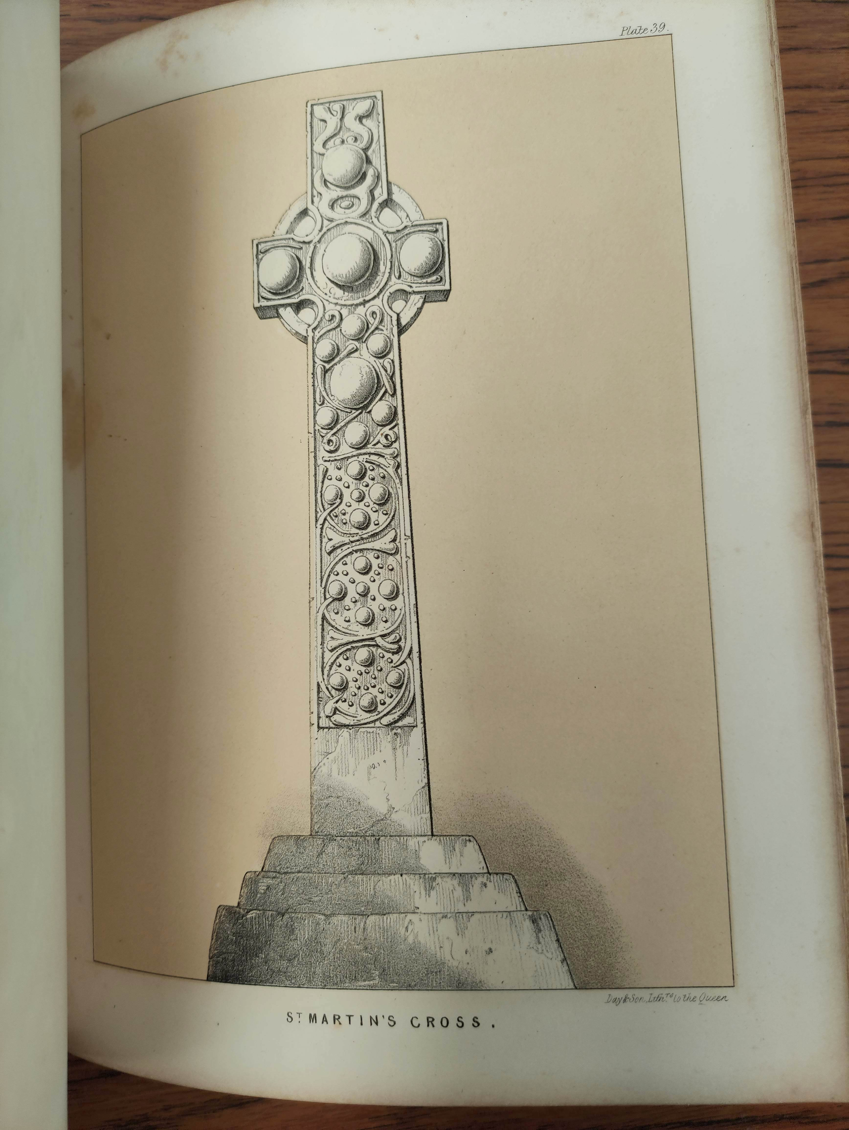 GRAHAM H. D.Antiquities of Iona. Litho frontis, map & plates. Quarto. Rebound qtr. green calf, - Image 12 of 13