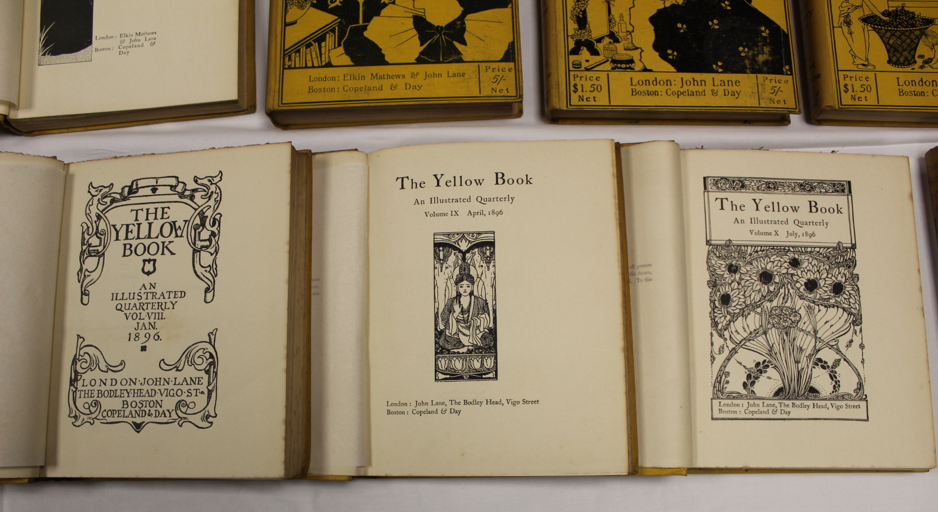 THE YELLOW BOOK.An Illustrated Quarterly. A set of 13 vols., many fine illus. Small quarto. - Image 11 of 45