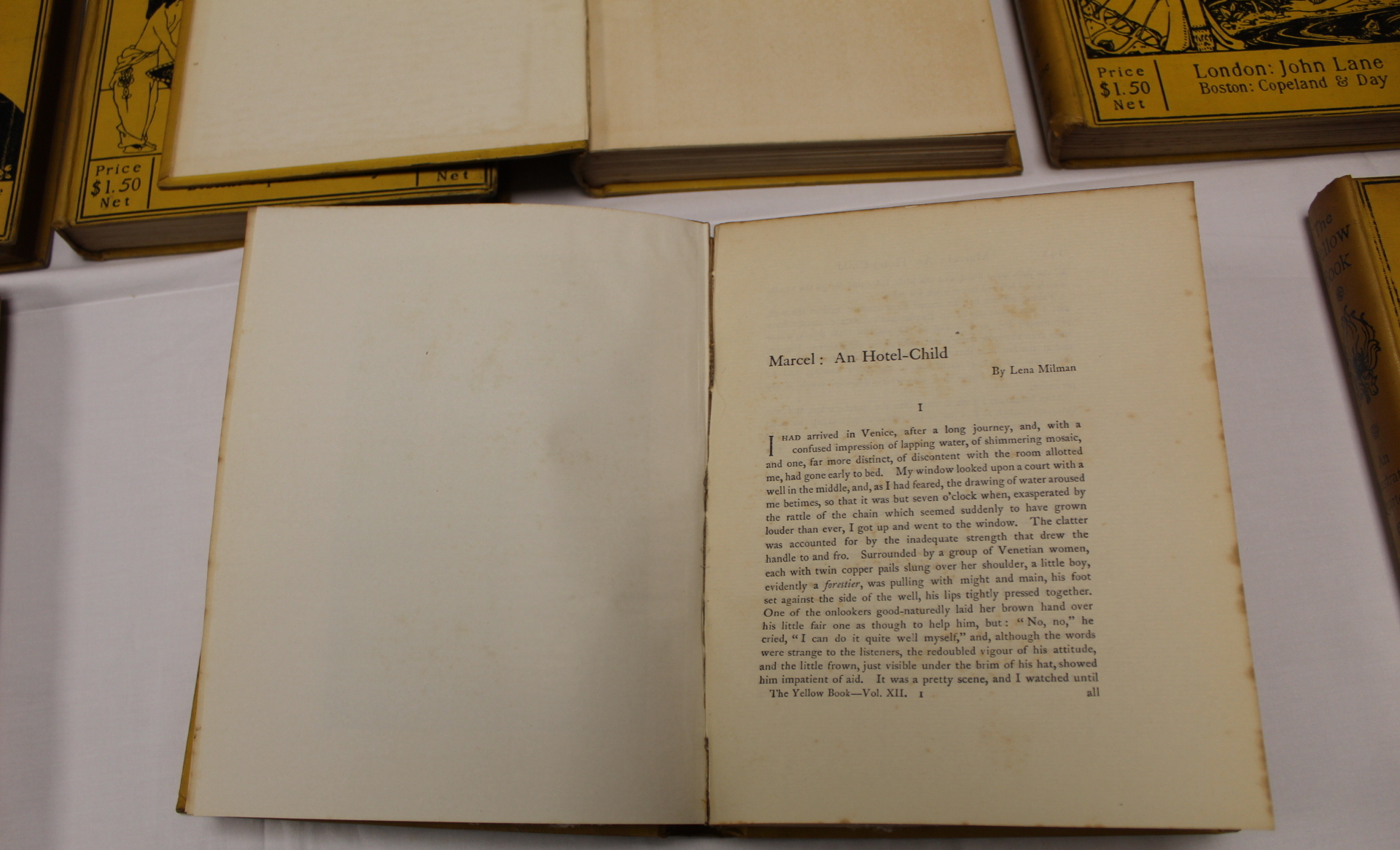 THE YELLOW BOOK.An Illustrated Quarterly. A set of 13 vols., many fine illus. Small quarto. - Image 22 of 45