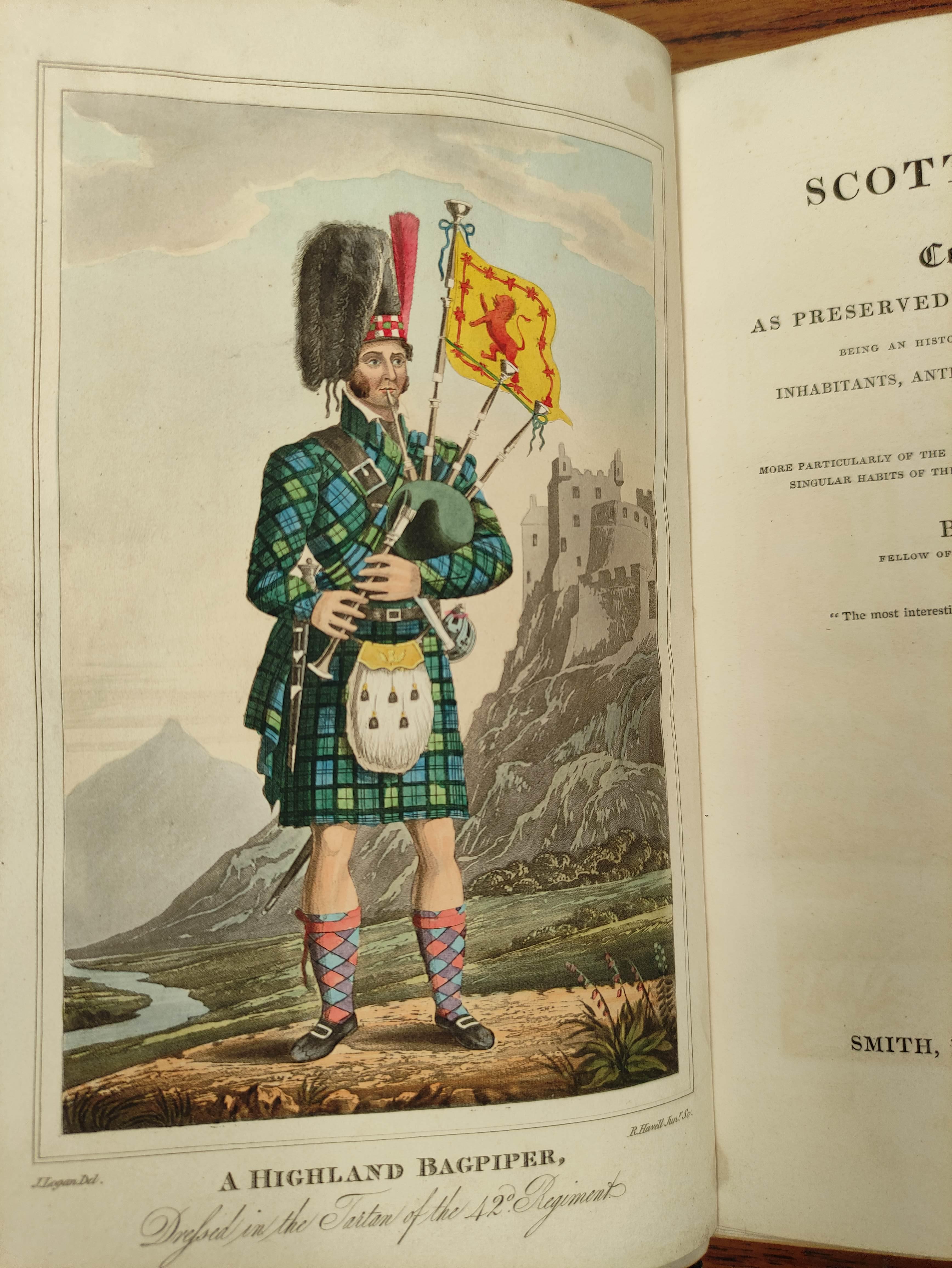 LOGAN JAMES.The Scottish Gael. 2 vols. Col. frontis & text illus. Half green morocco. A nice - Image 9 of 10