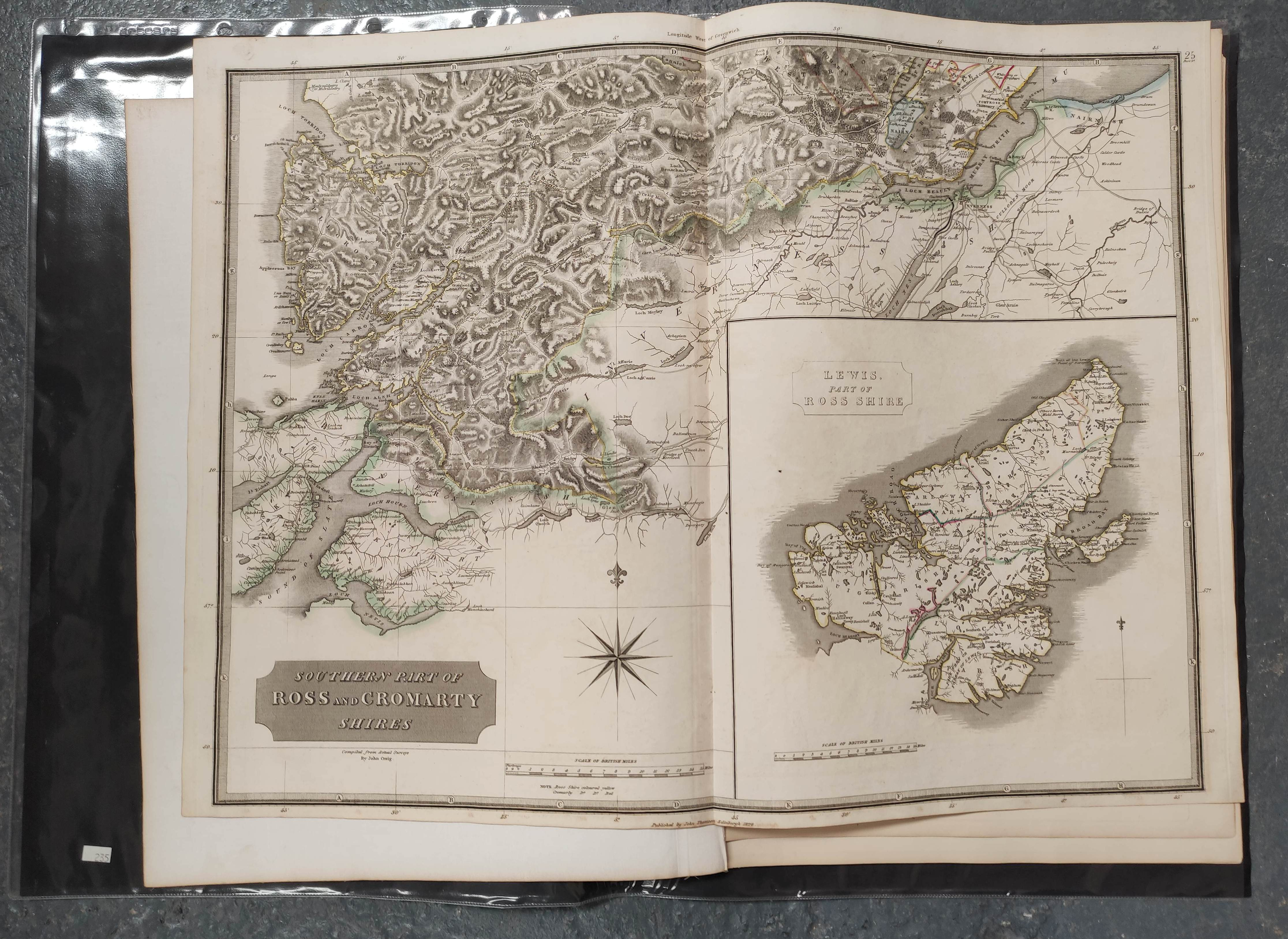 JOHNSON W. & A. K.Map of the County of Inverness with the railways. 4 part eng. map, hand col. - Image 4 of 6