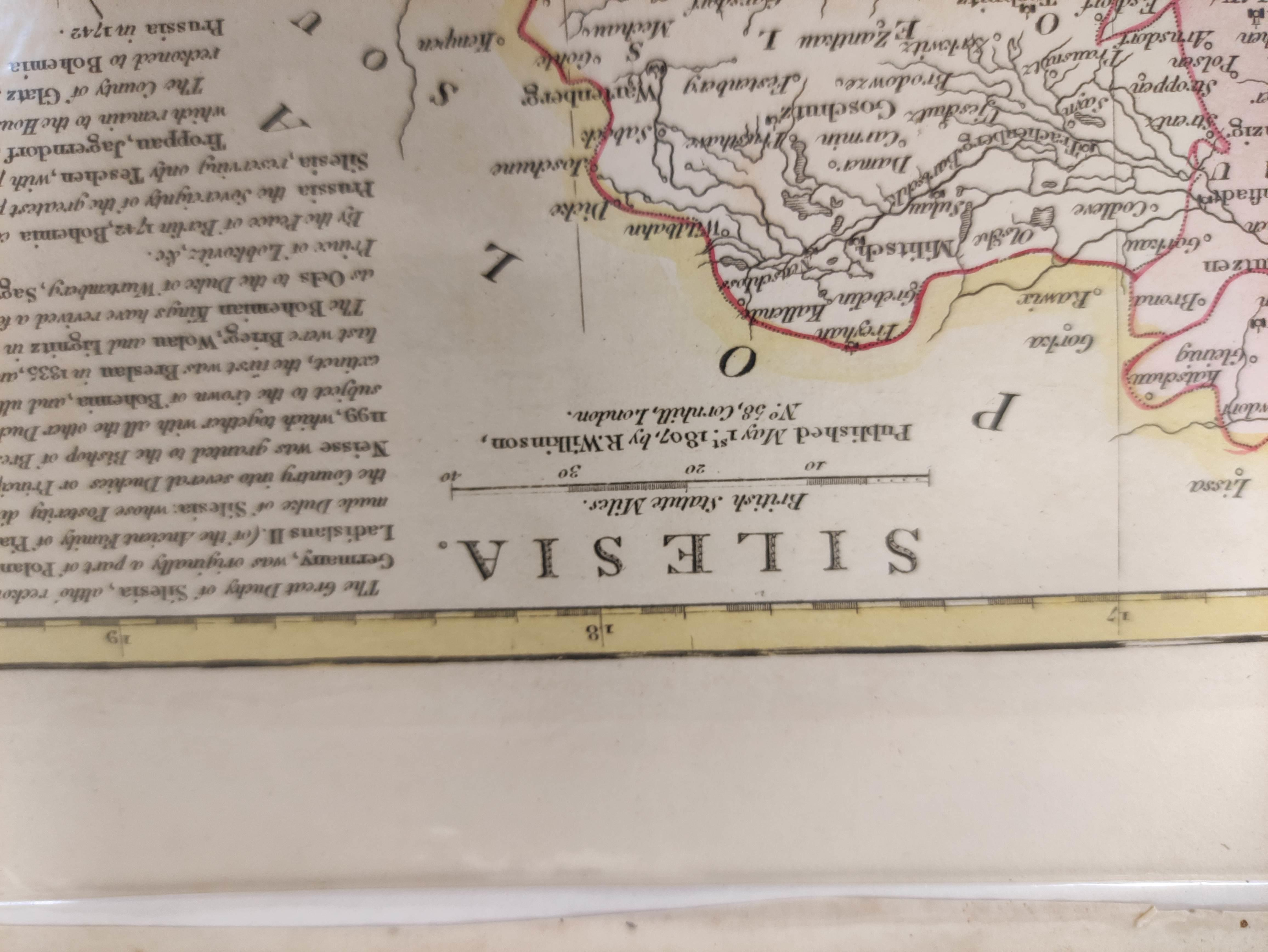 HOMANNIANO HEREDES (Pubs.)Polonia. Hand col. dbl. pge. eng. folio map. 1772; also 5 other eng. maps - Image 7 of 9