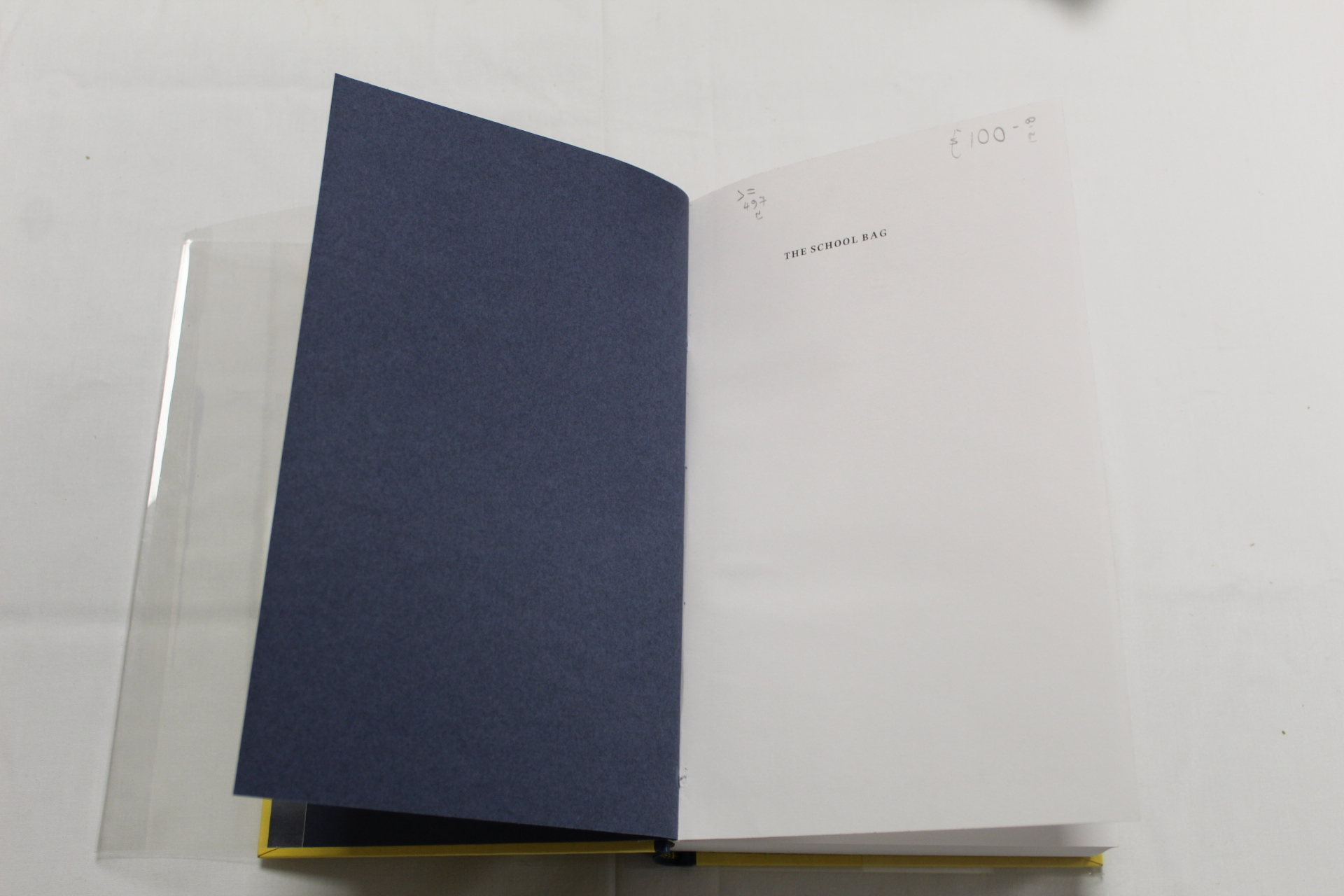 HEANEY SEAMUS. The School Bag. Ltd. ed. 61/300 signed by Heaney & Ted Hughes. Orig. blue & yellow - Image 25 of 36