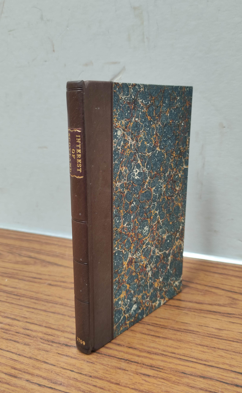 (SETON WILLIAM). The Interest of Scotland in Three Essays. 114pp. Rebound qtr. calf, marbled