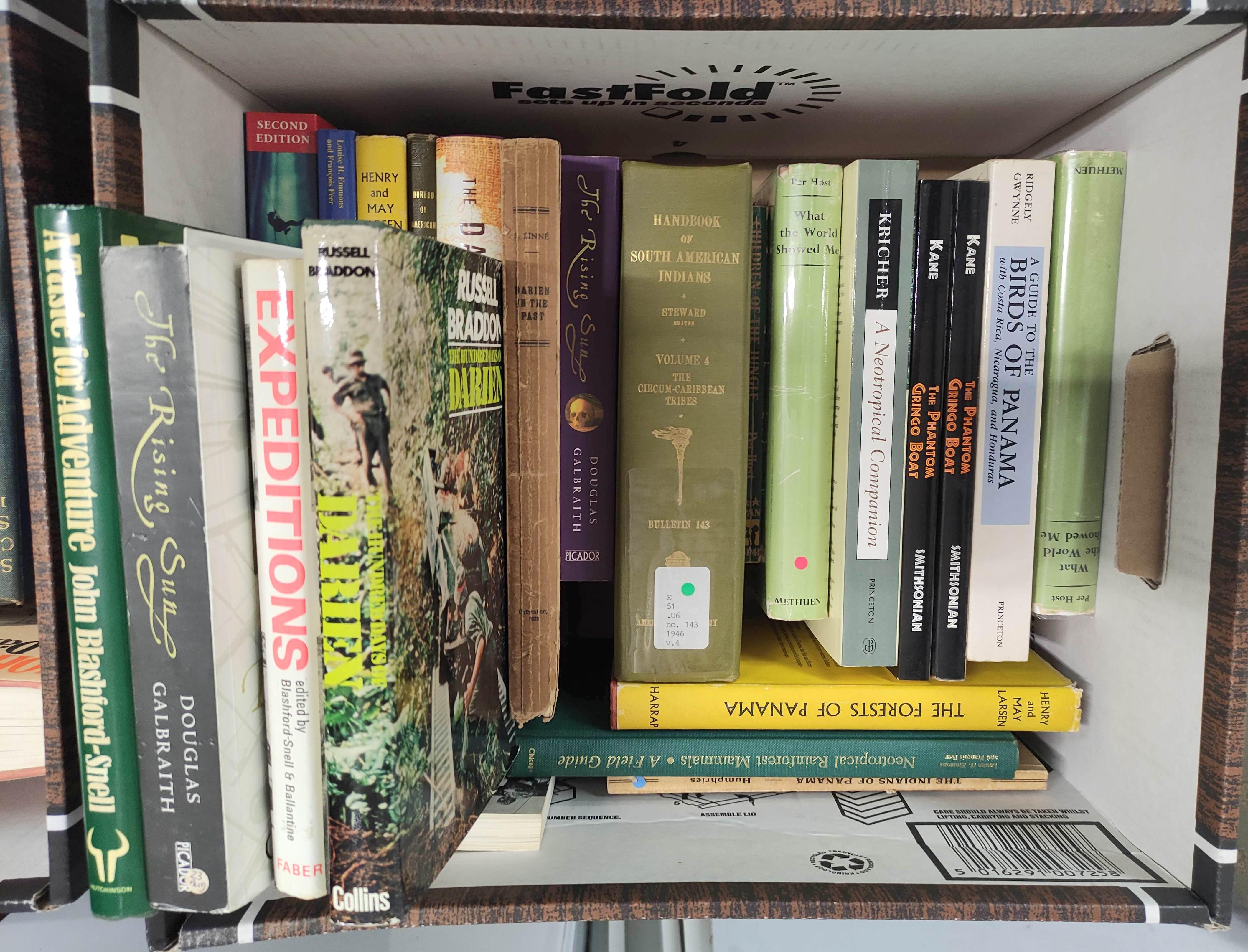 Darien,Panama & Central America.A carton of various vols.