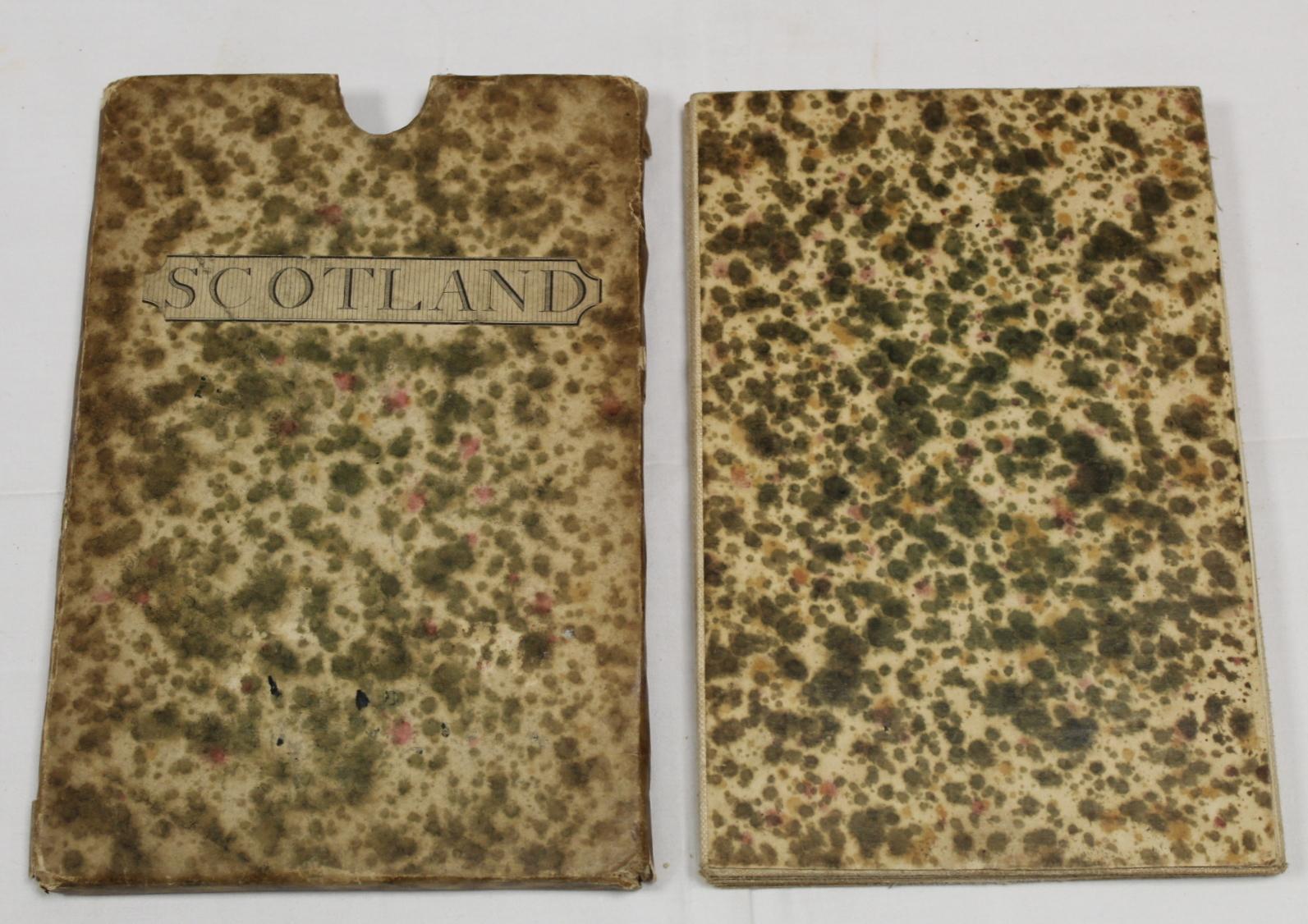 KIRKWOOD J. & SONS.Map of Scotland. Hand col. eng. fldg. linen map in well worn orig. slip case. - Image 32 of 36