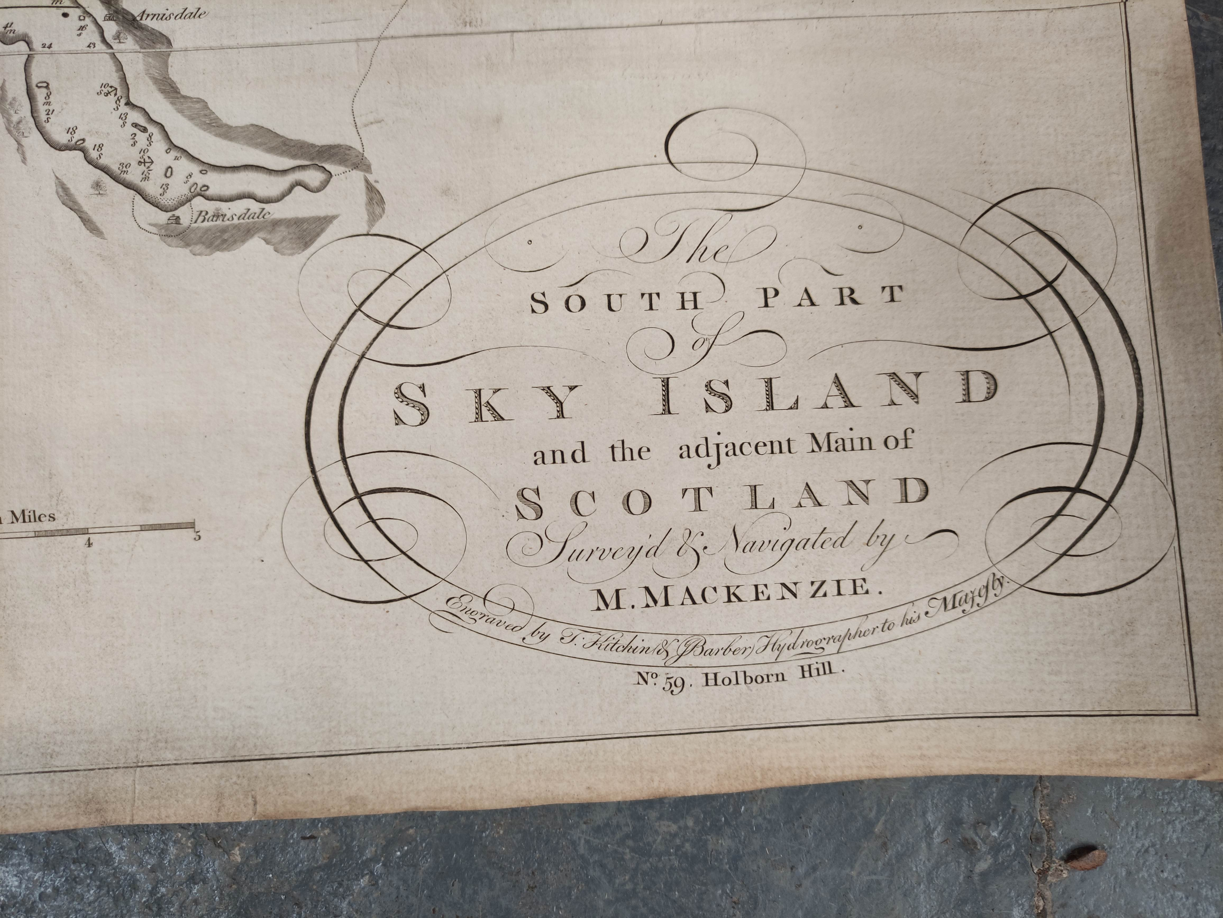 MACKENZIE MURDOCH (SNR.).A General Chart of the West Coast & Western Islands of Scotland from - Image 3 of 66