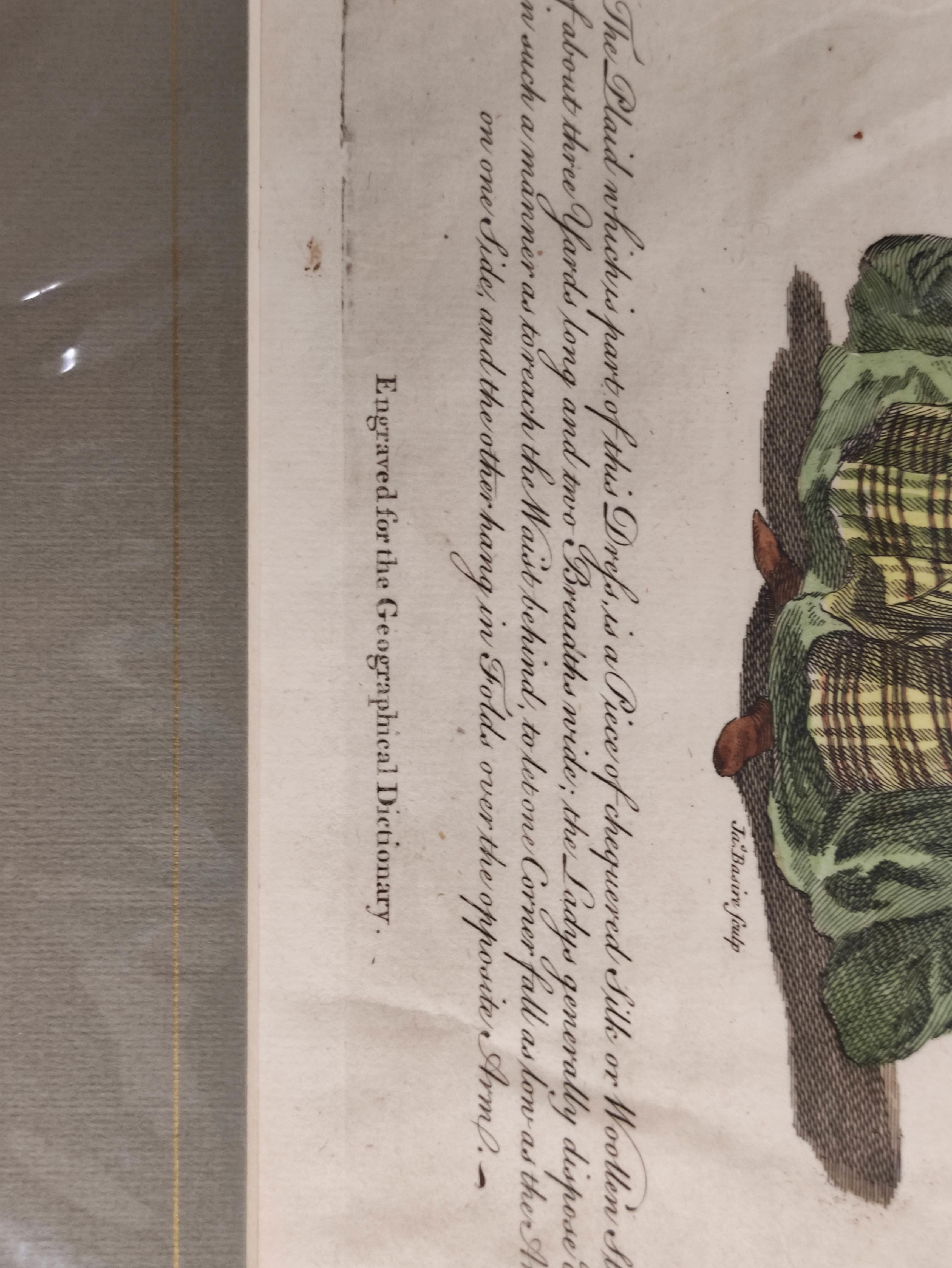 Highland Costume.4 hand coloured engraved plates, 2 framed. - Image 6 of 6
