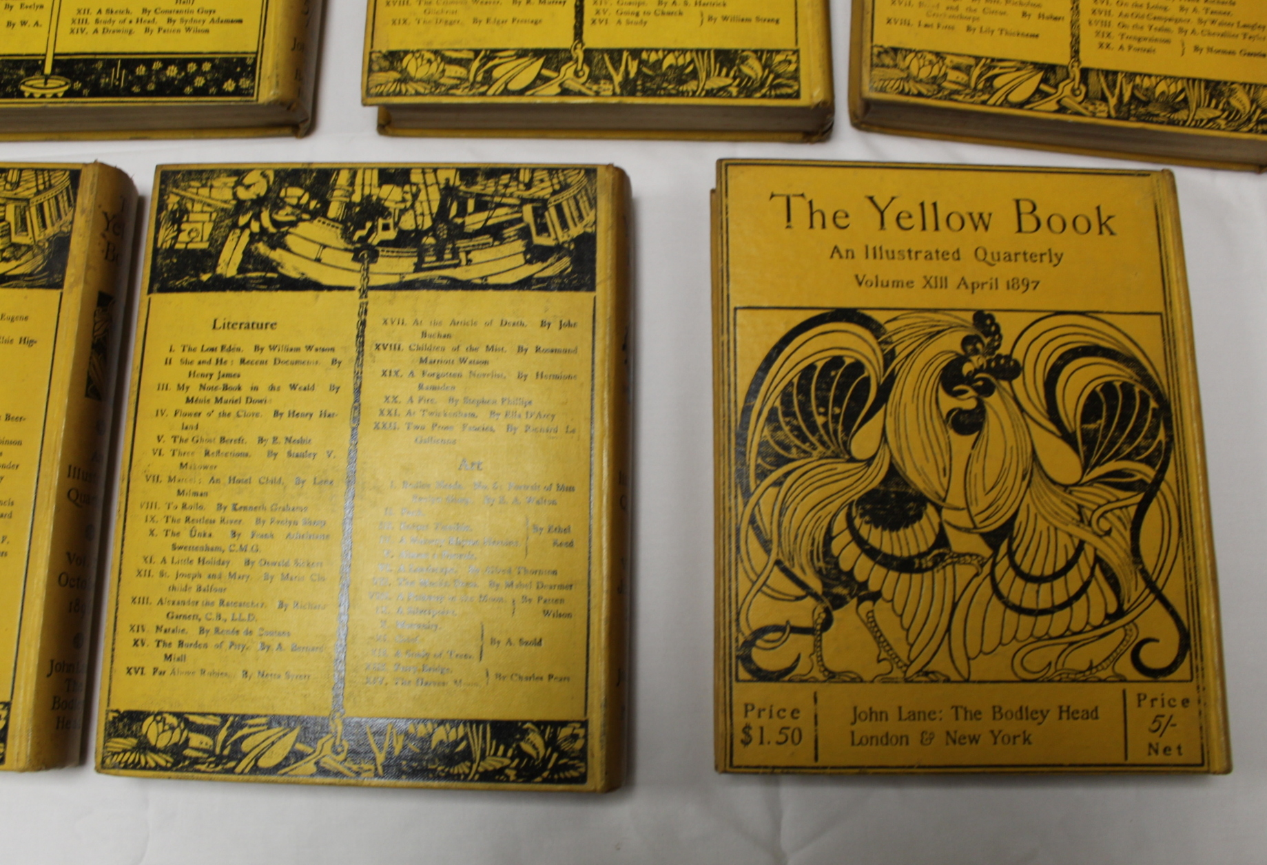 THE YELLOW BOOK.An Illustrated Quarterly. A set of 13 vols., many fine illus. Small quarto. - Image 40 of 45