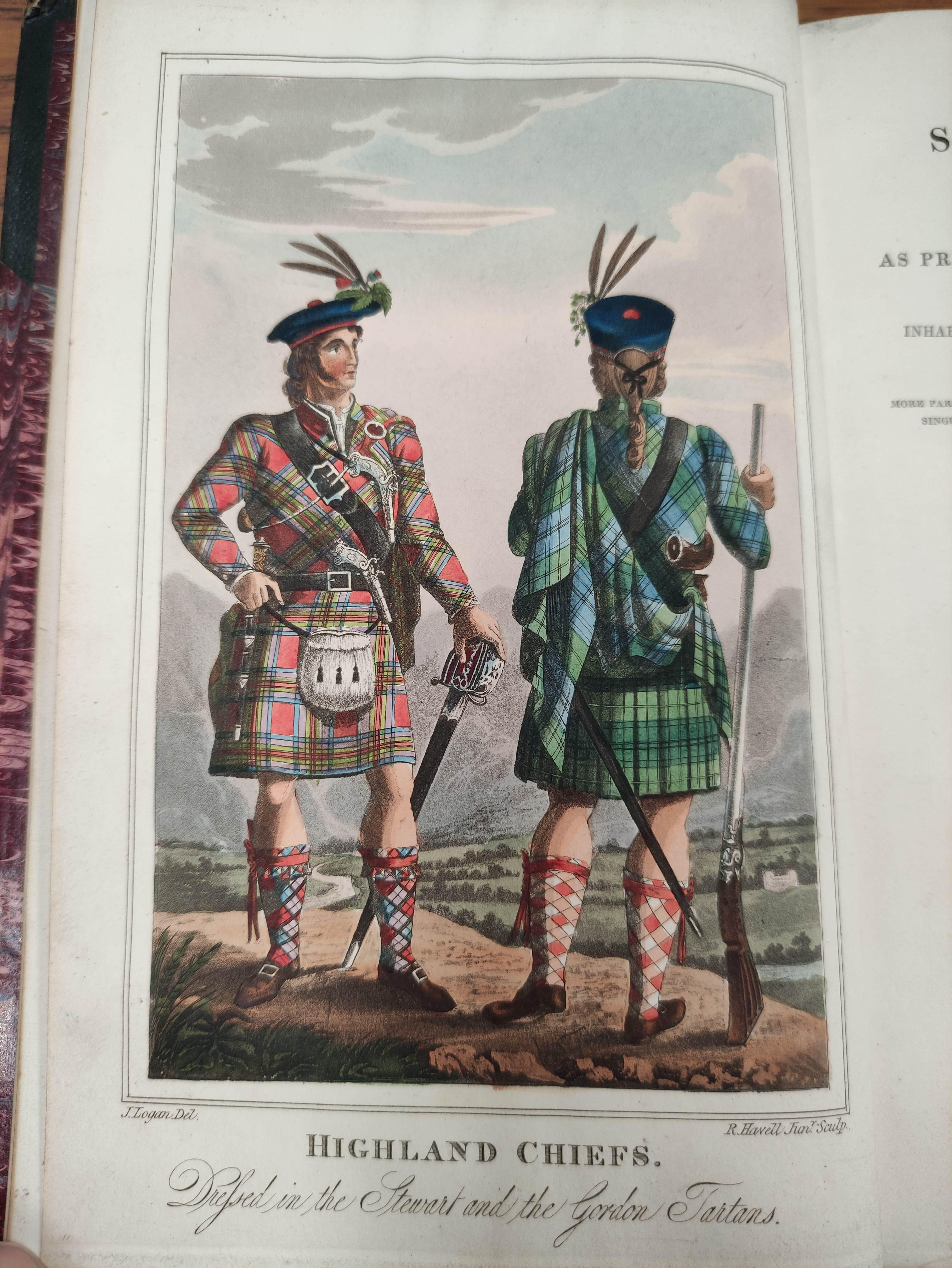 LOGAN JAMES.The Scottish Gael. 2 vols. Col. frontis & text illus. Half green morocco. A nice - Image 5 of 10
