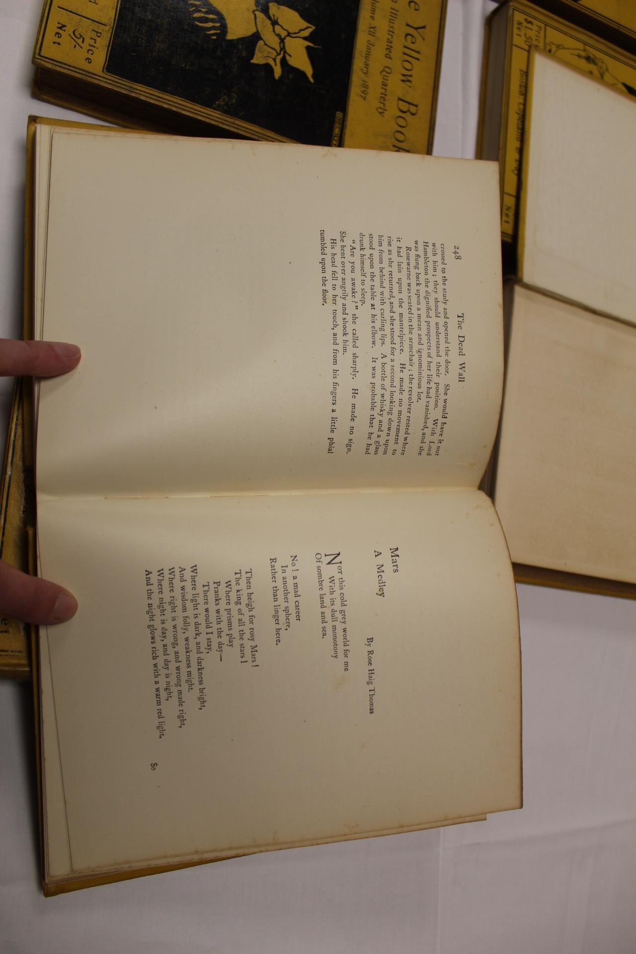 THE YELLOW BOOK.An Illustrated Quarterly. A set of 13 vols., many fine illus. Small quarto. - Image 34 of 45