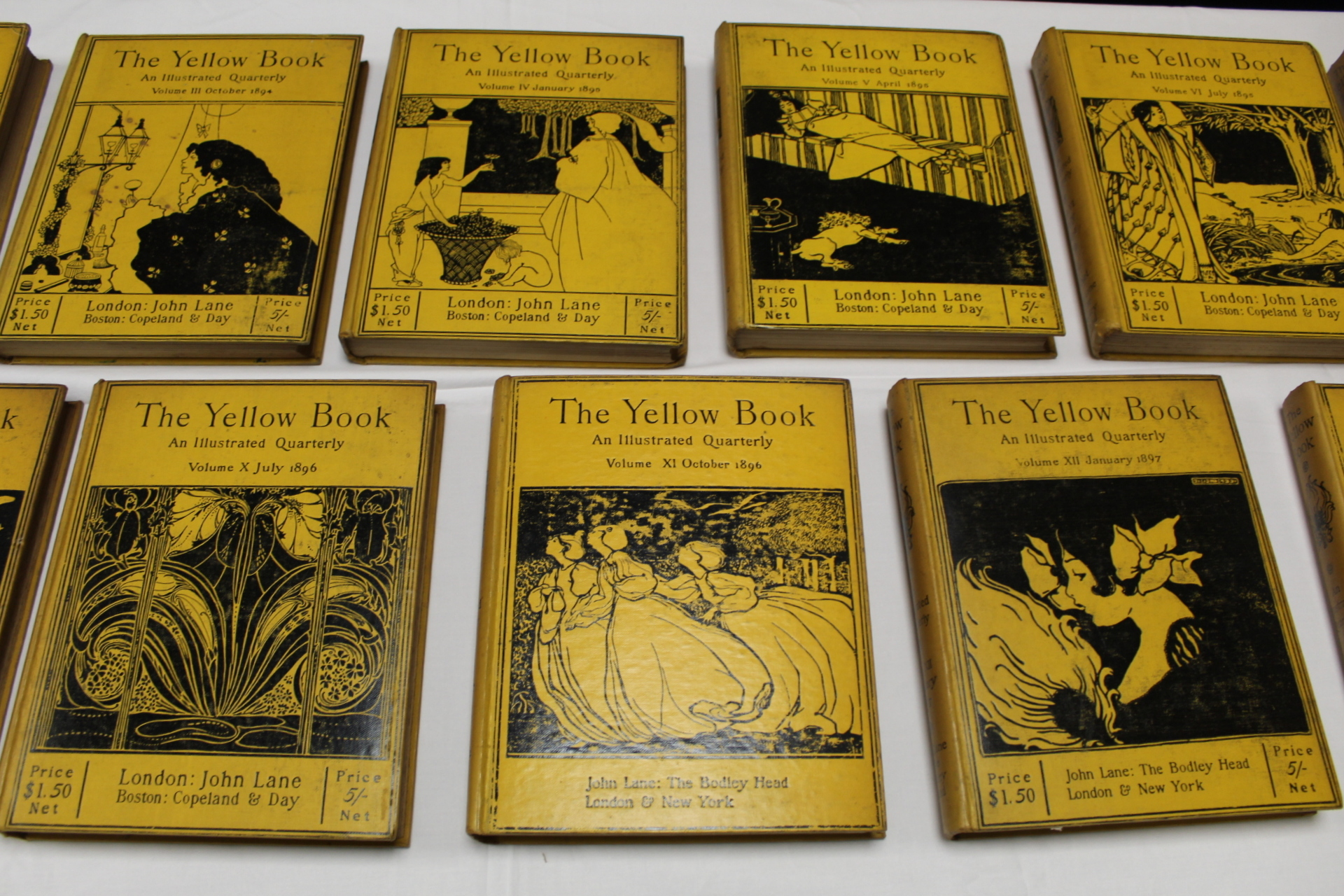 THE YELLOW BOOK.An Illustrated Quarterly. A set of 13 vols., many fine illus. Small quarto. - Image 9 of 45