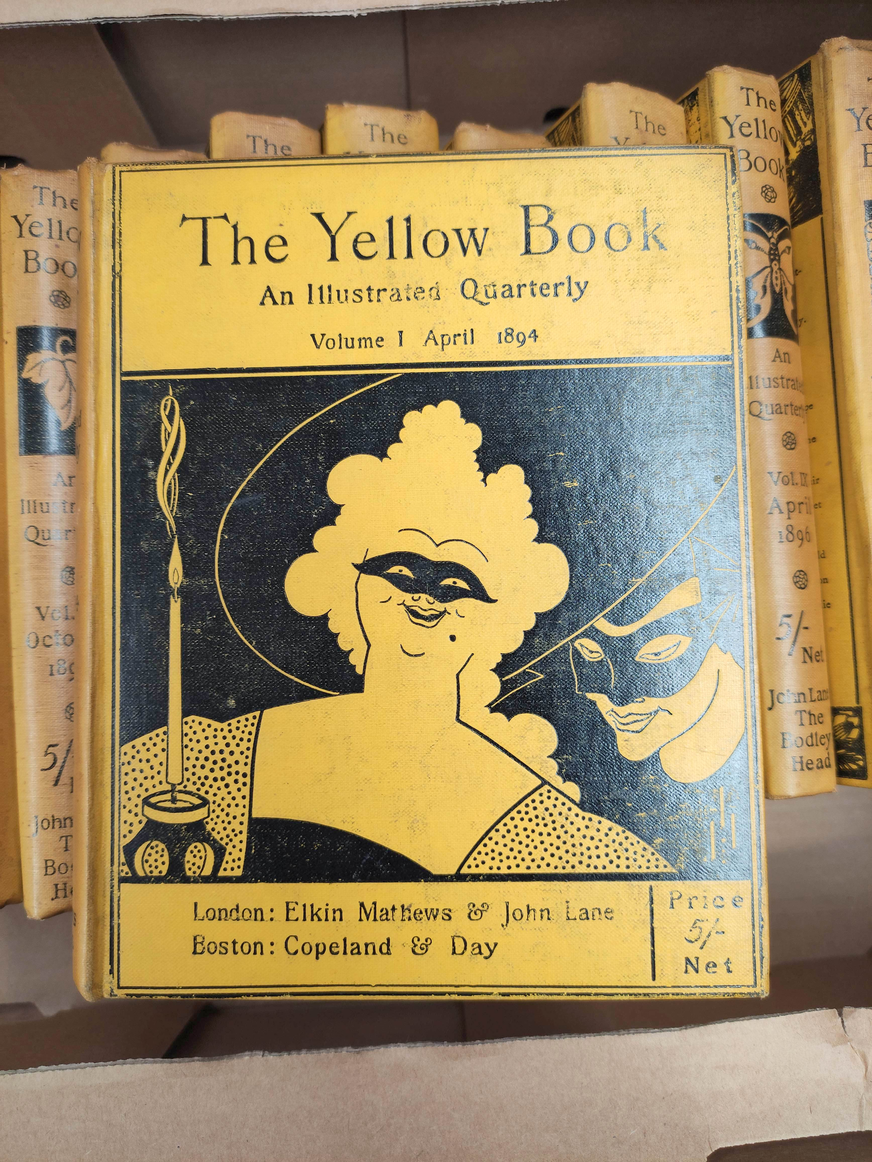 THE YELLOW BOOK.An Illustrated Quarterly. A set of 13 vols., many fine illus. Small quarto. - Image 3 of 45