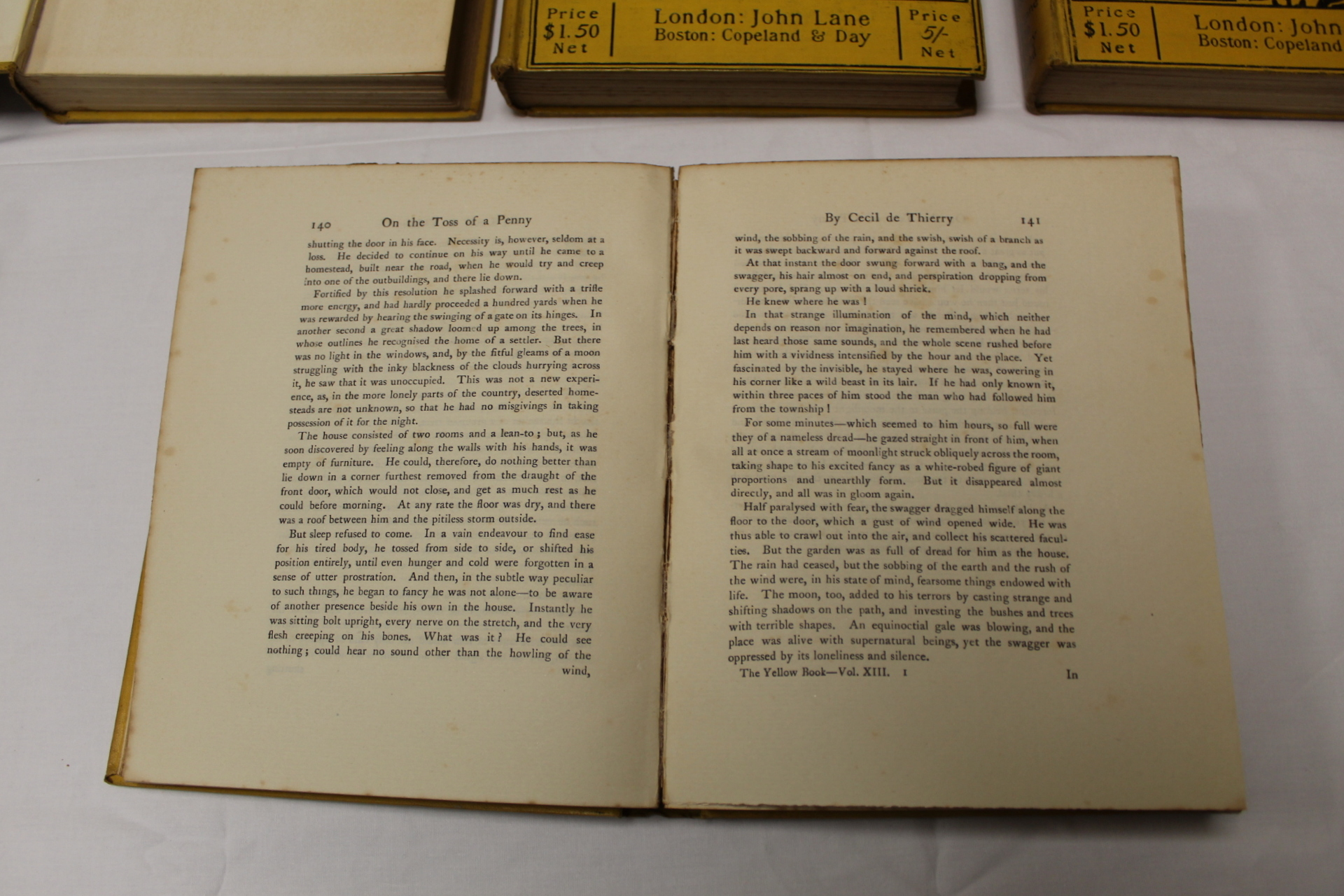 THE YELLOW BOOK.An Illustrated Quarterly. A set of 13 vols., many fine illus. Small quarto. - Image 27 of 45