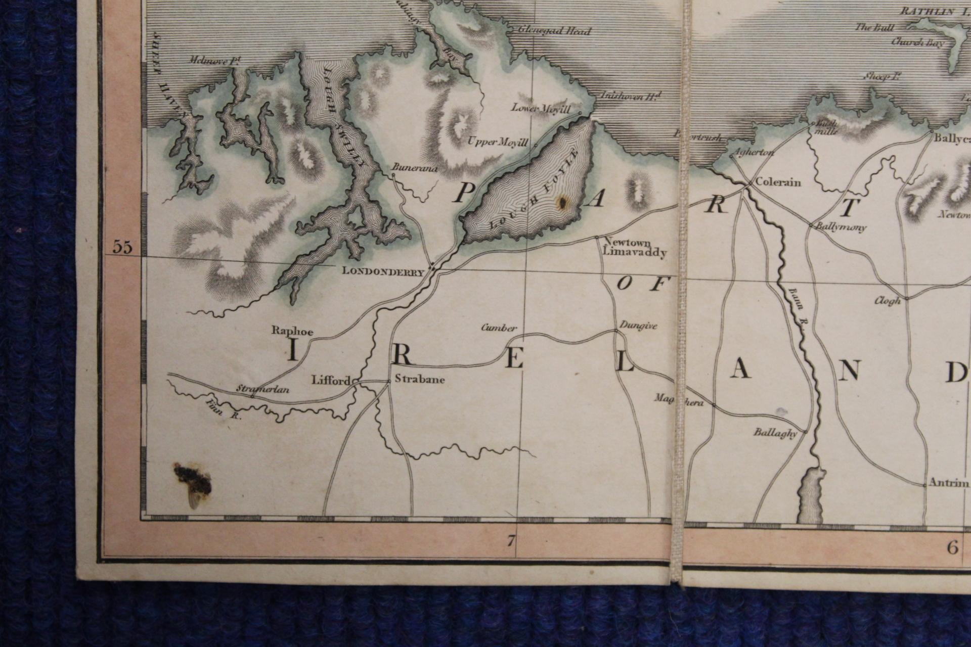 KIRKWOOD J. & SONS.Map of Scotland. Hand col. eng. fldg. linen map in well worn orig. slip case. - Image 35 of 36